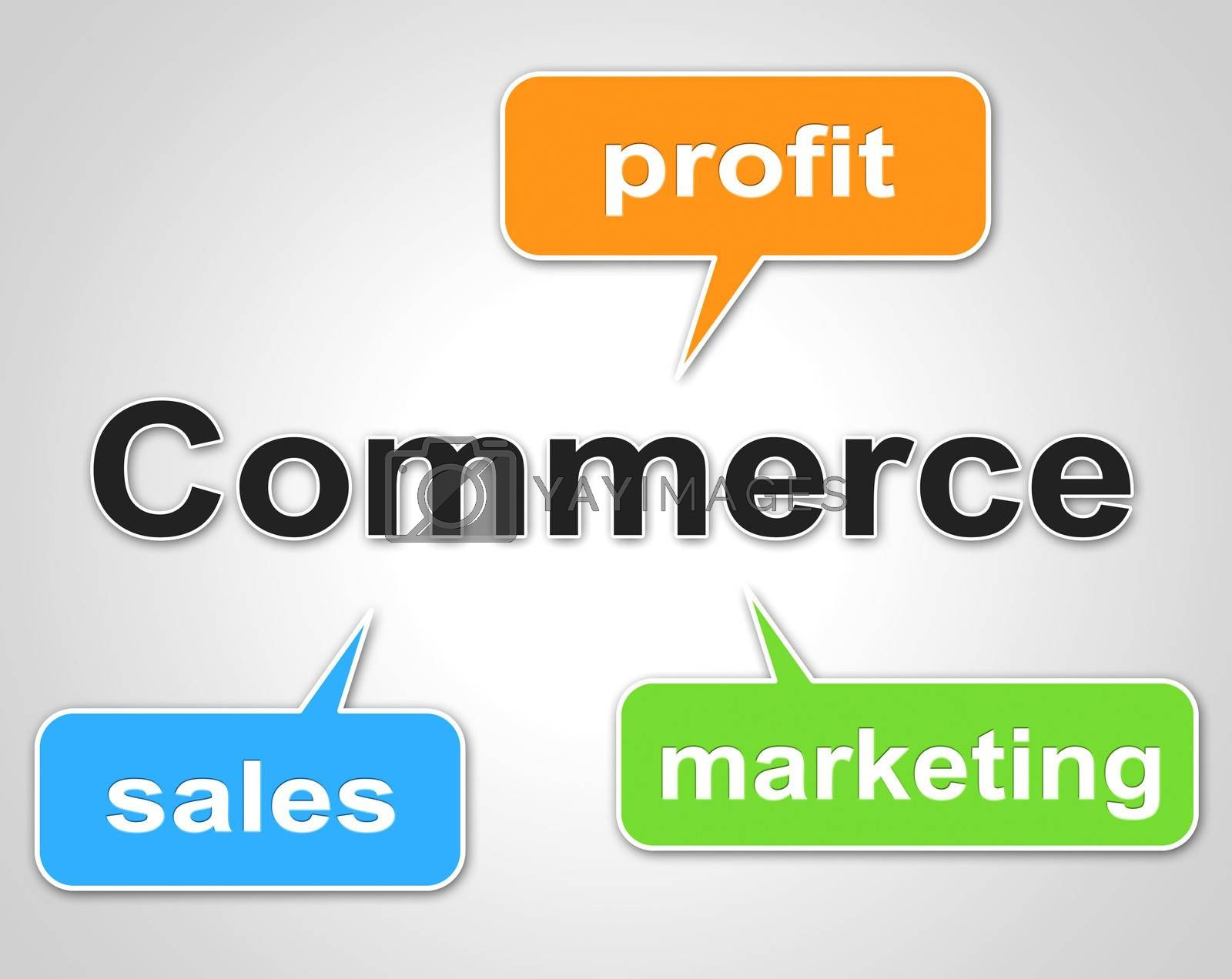 Commerce Words Shows Export Commercial And Buying by stuartmiles