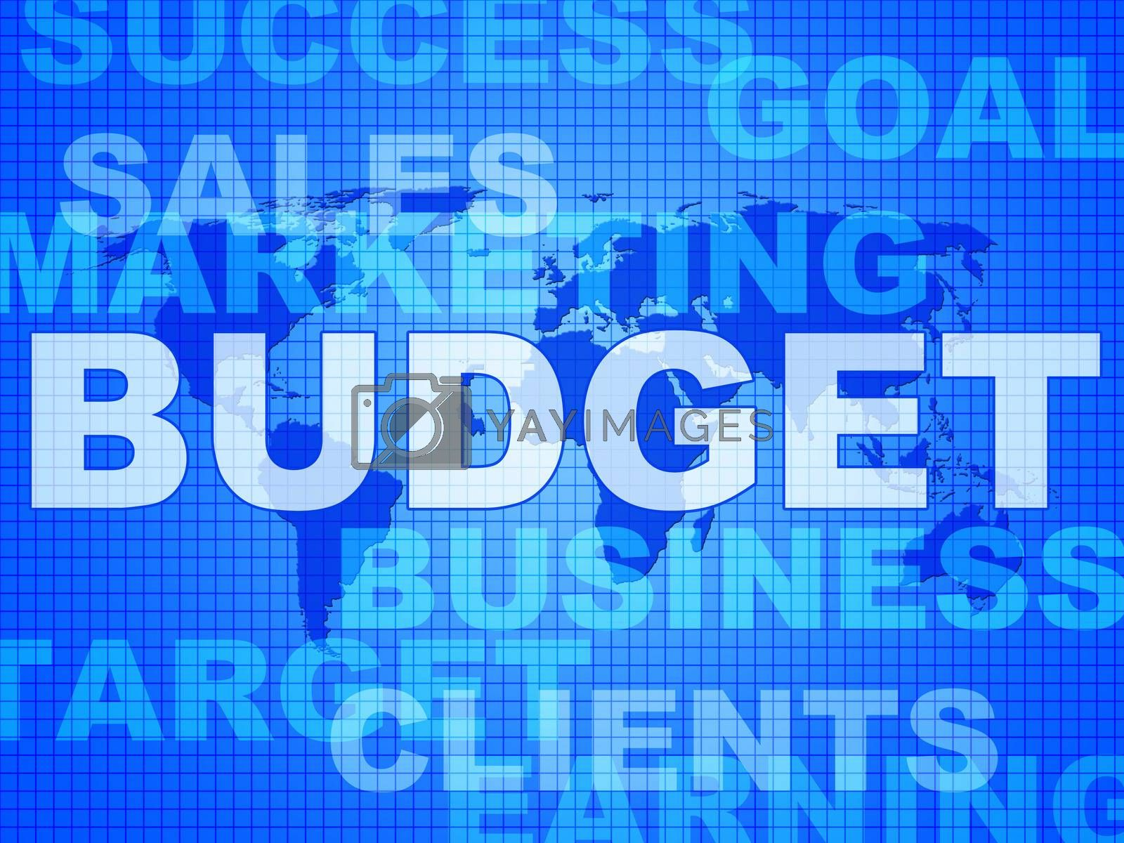 Budget Words Means Bills Costing And Money by stuartmiles