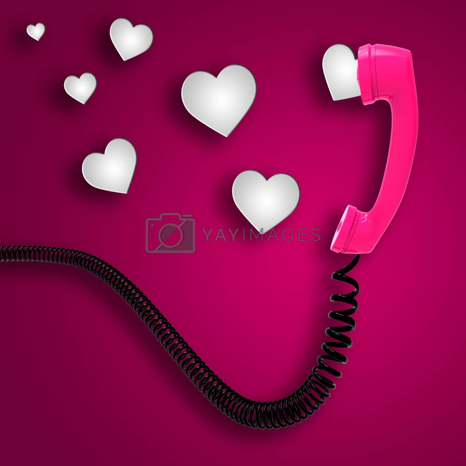 Romantic Call Indicates Text Space And Chat by stuartmiles