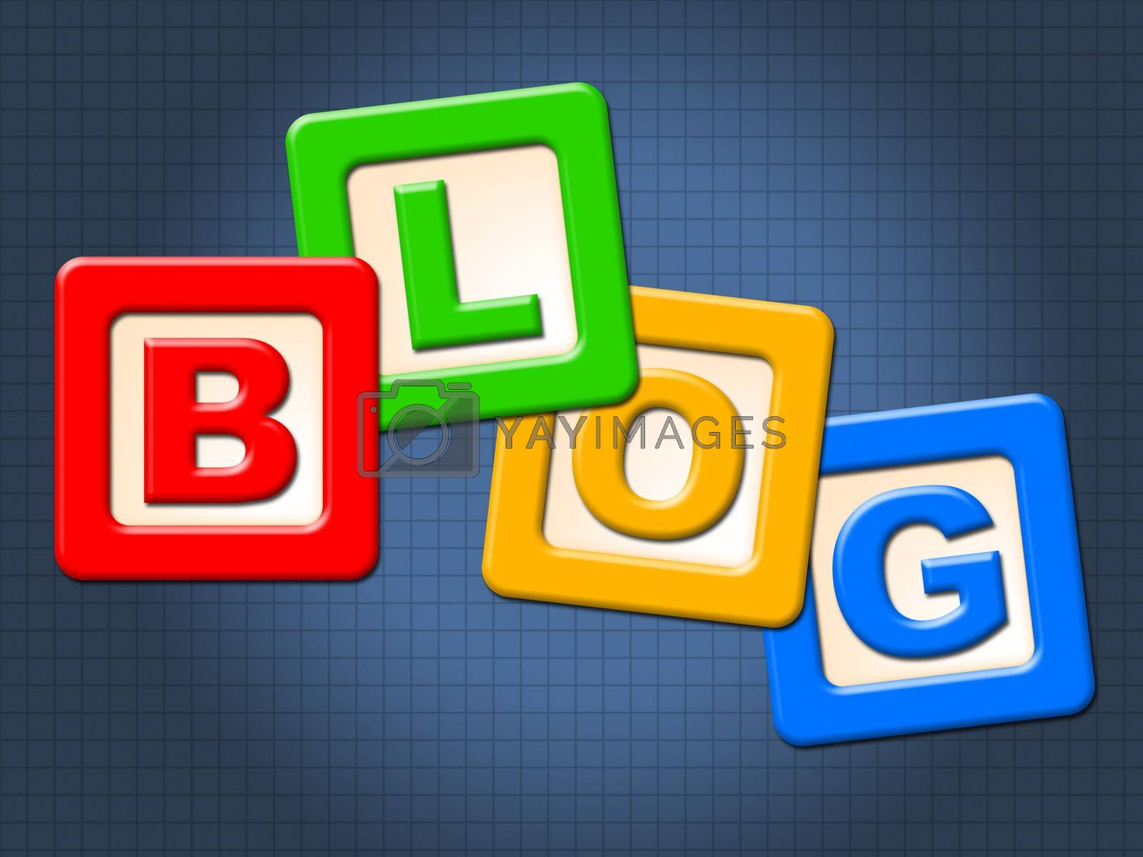 Blog Blocks Shows Childhood Blogging And Youths by stuartmiles