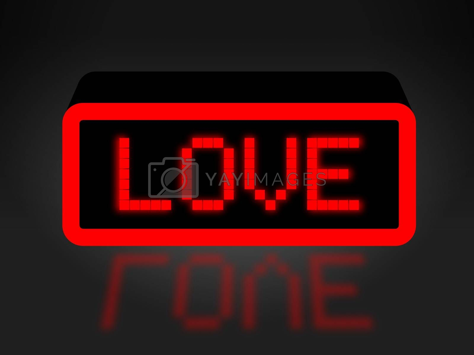 Love Neon Sign Shows Compassion Compassionate And Affection by stuartmiles