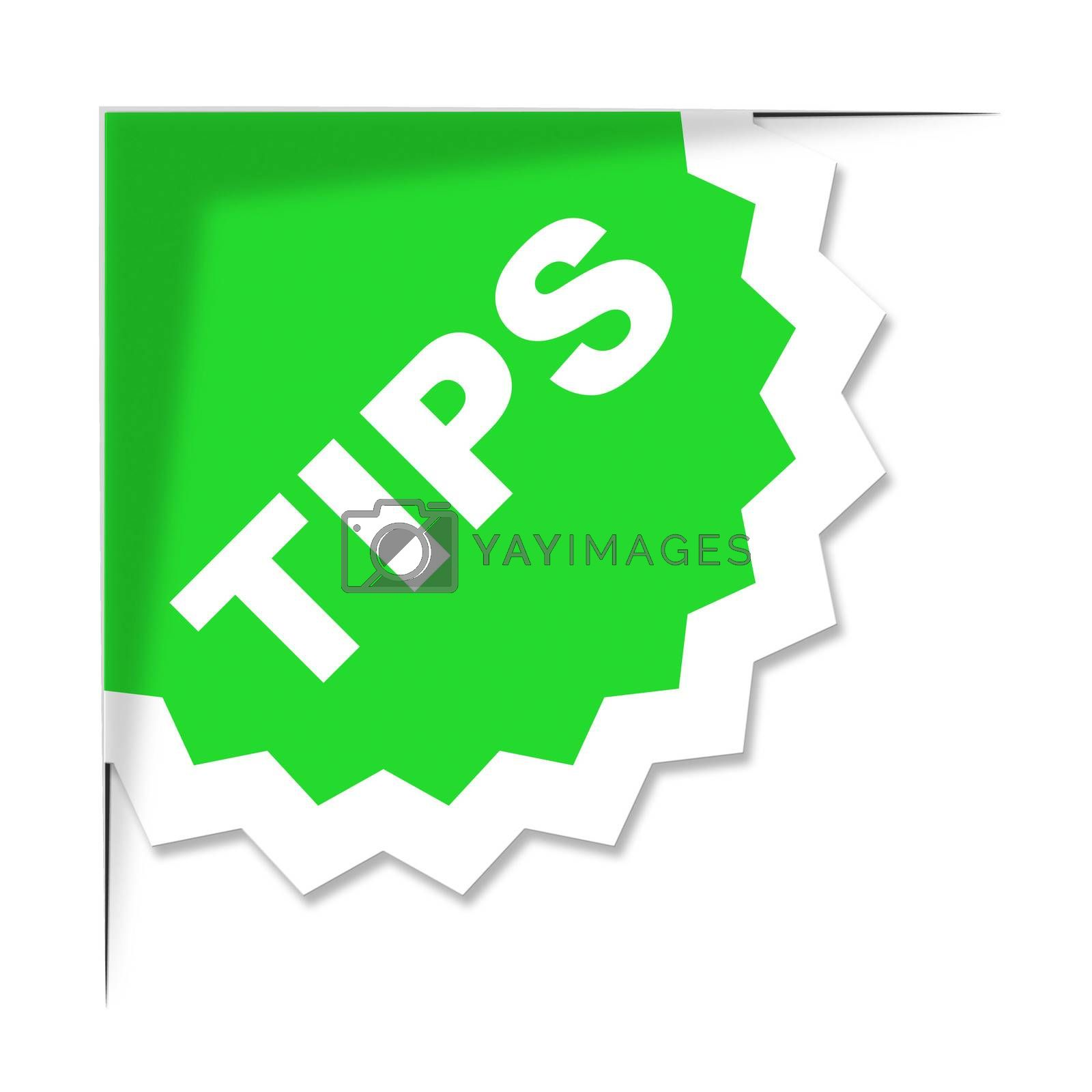 Tips Label Represents Ideas Help And Idea by stuartmiles