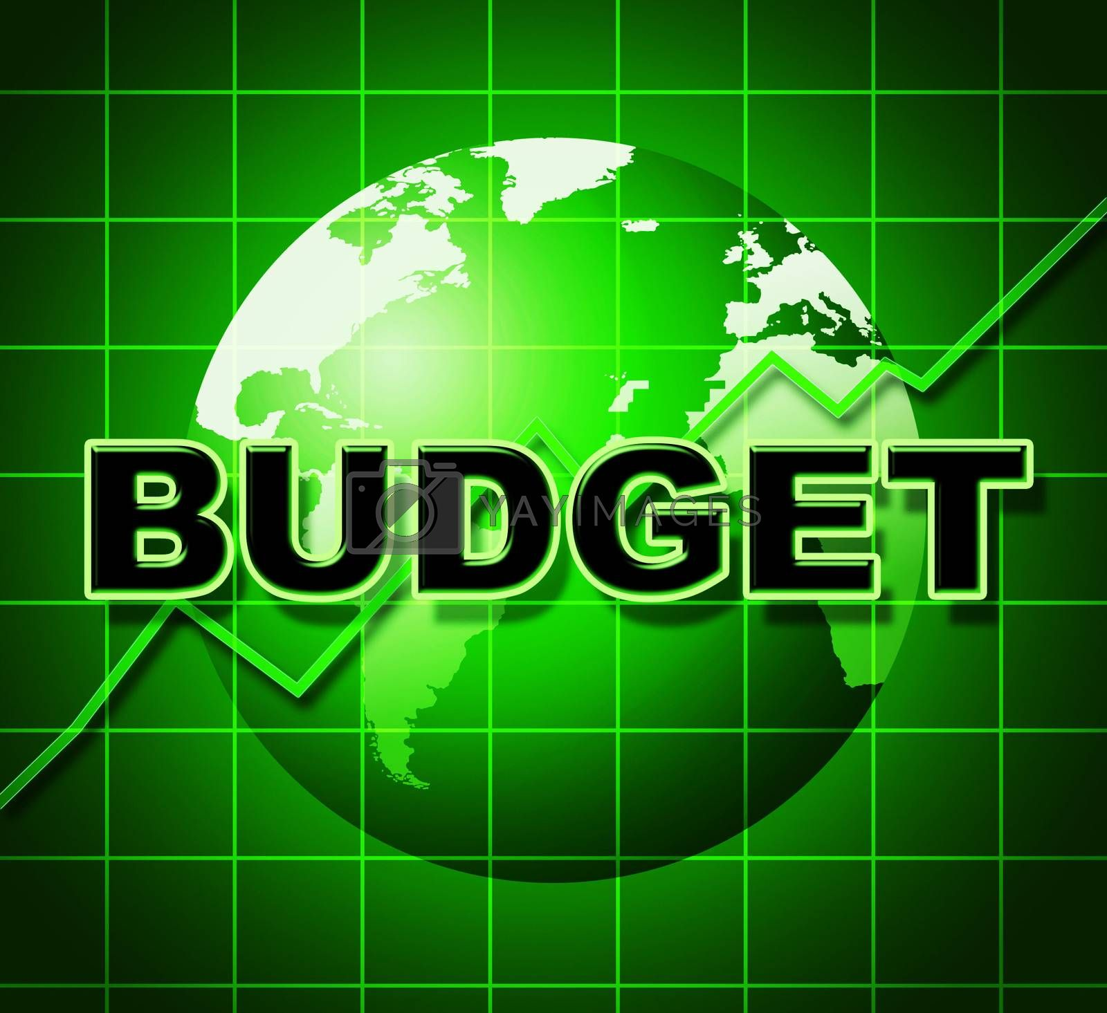 Budget Graph Means Costing Expenditure And Statistic by stuartmiles