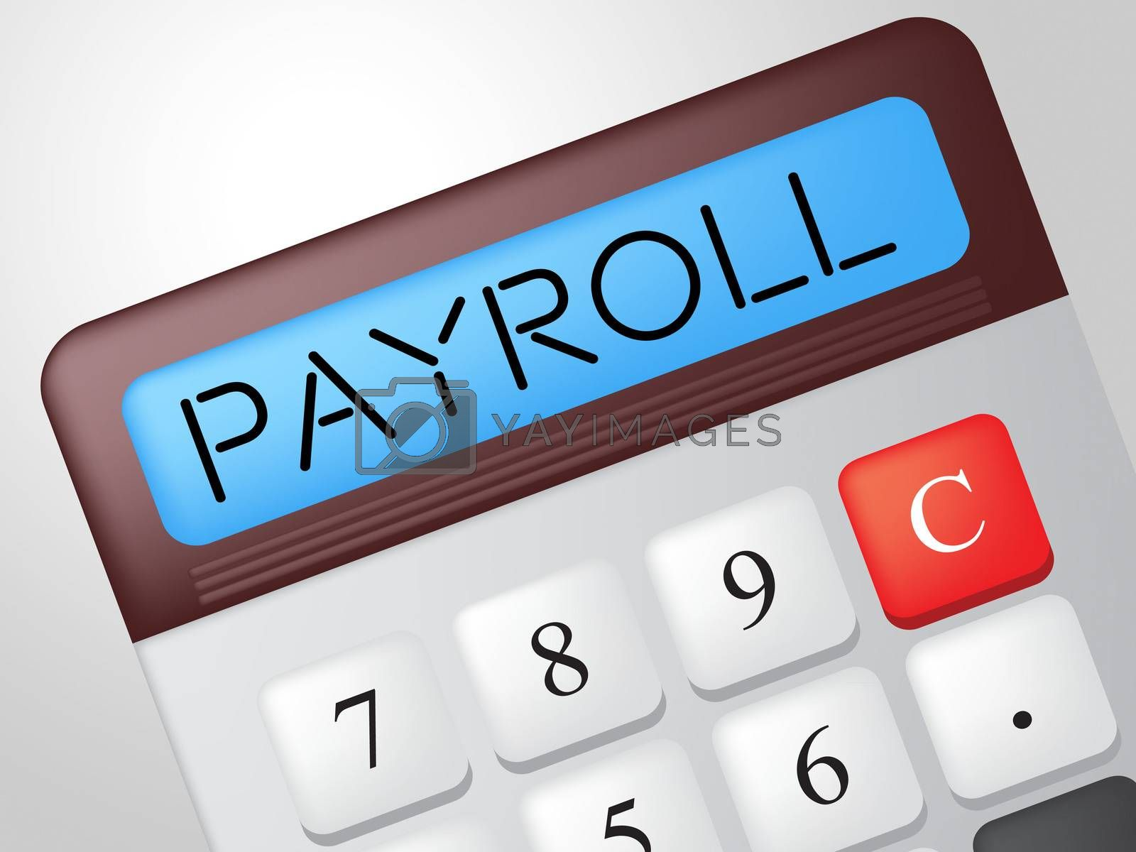 Payroll Calculator Shows Earns Payday And Salaries by stuartmiles