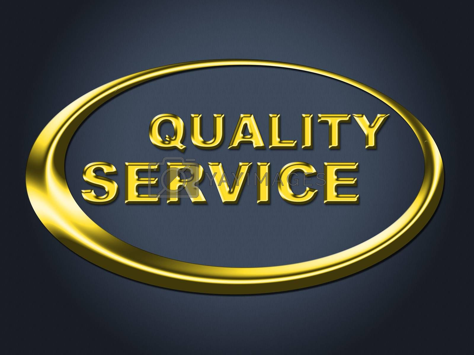 Quality Service Sign Represents Help Desk And Advice by stuartmiles