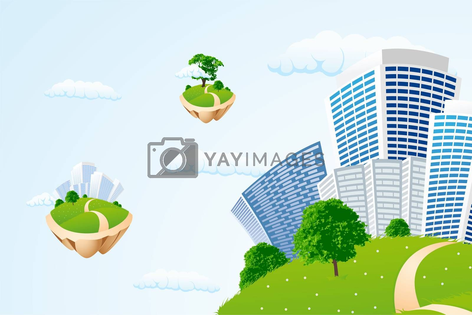 Business city in the sky by WaD