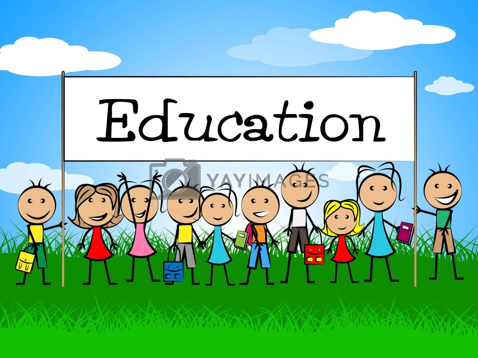 Education Banner Meaning Develop Train And Studying