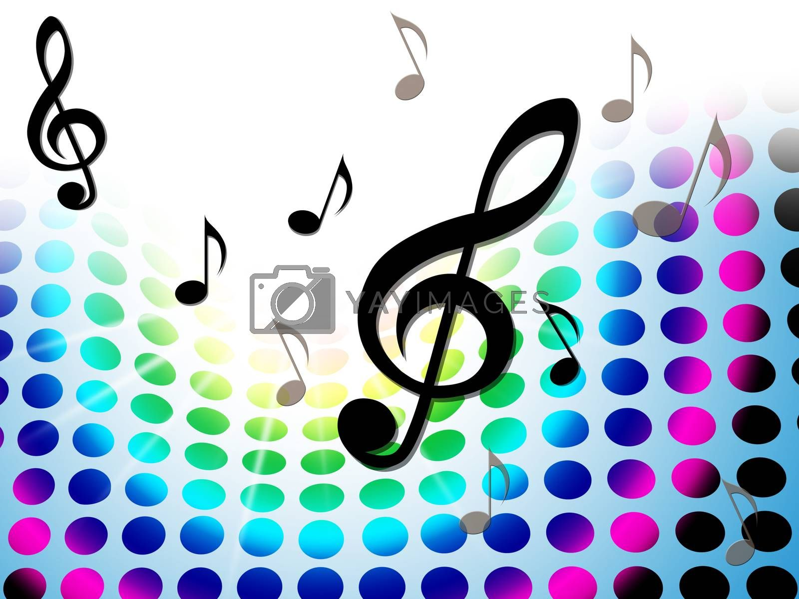 Music Background Shows Treble Clef And Composer by stuartmiles