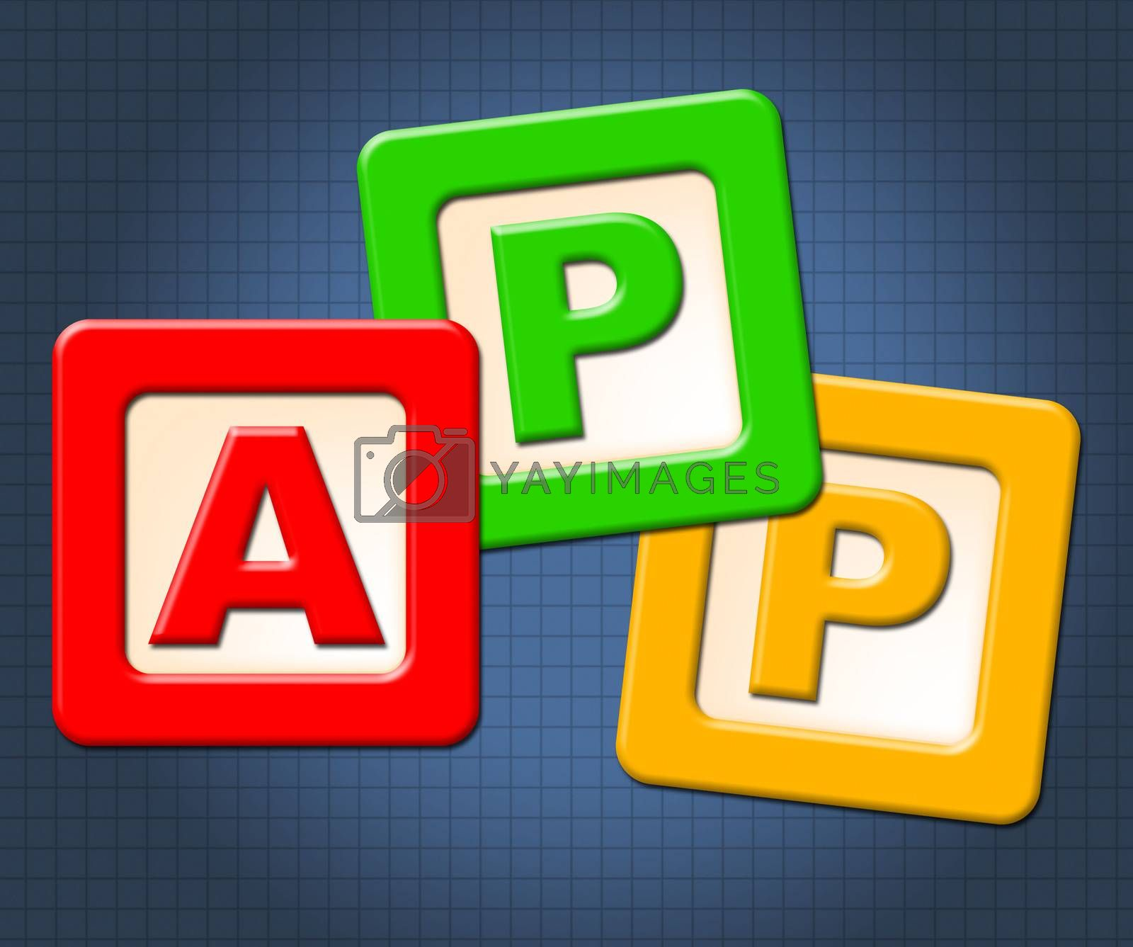 App Kids Blocks Indicates Application Software And Online by stuartmiles