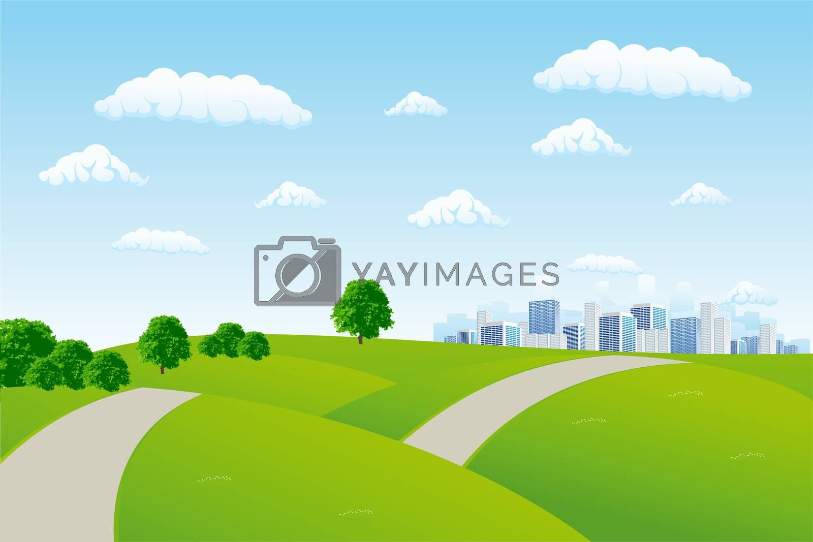 Summer cityscape by WaD