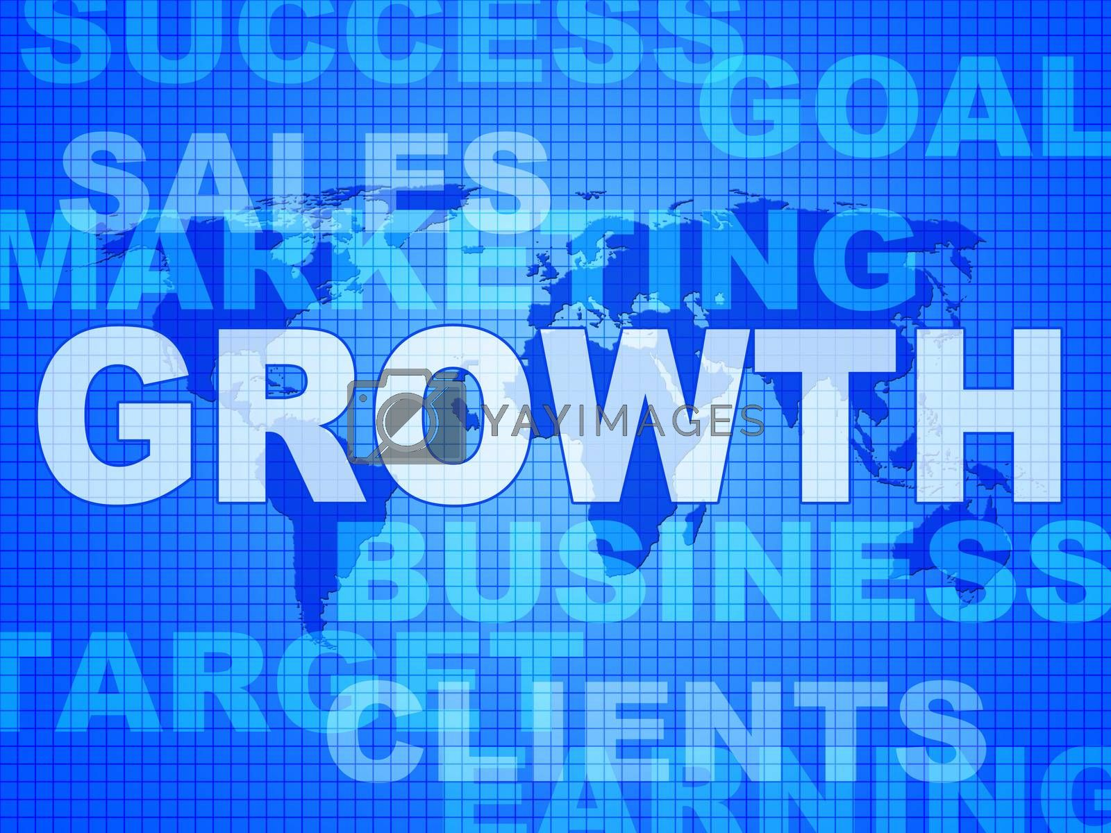 Growth Words Represents Advance Rising And Development by stuartmiles