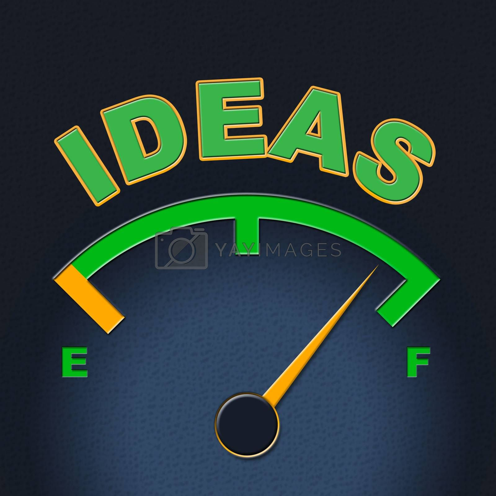 Ideas Gauge Indicates Display Concepts And Inventions by stuartmiles