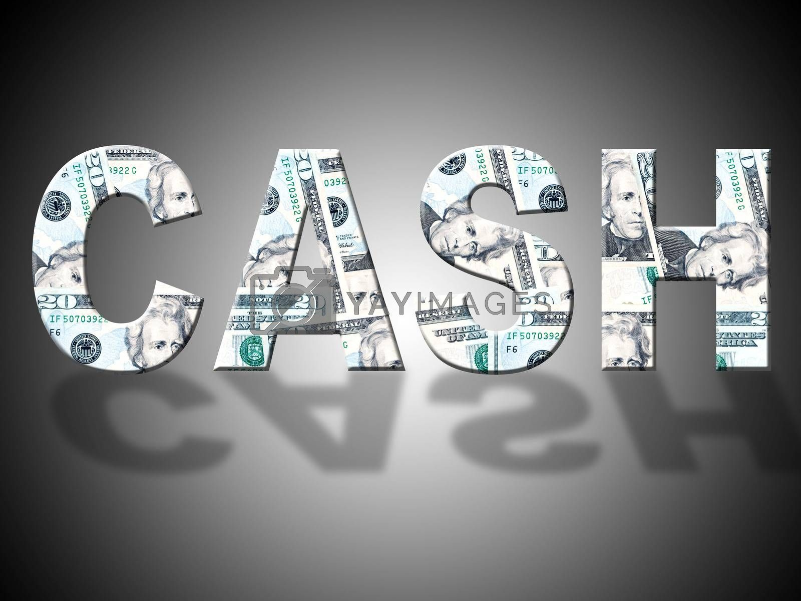Cash Letters Shows American Dollars And Bank by stuartmiles