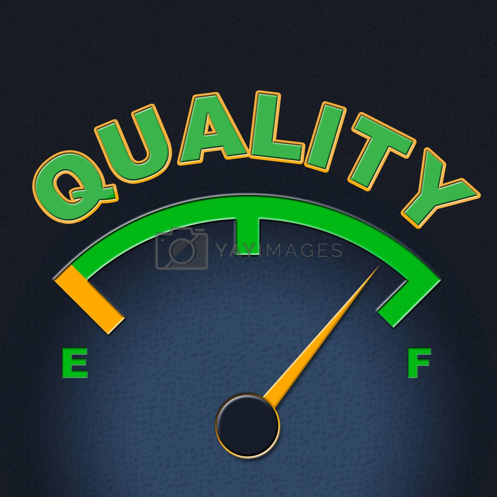 Quality Gauge Indicates Perfect Indicator And Satisfaction by stuartmiles