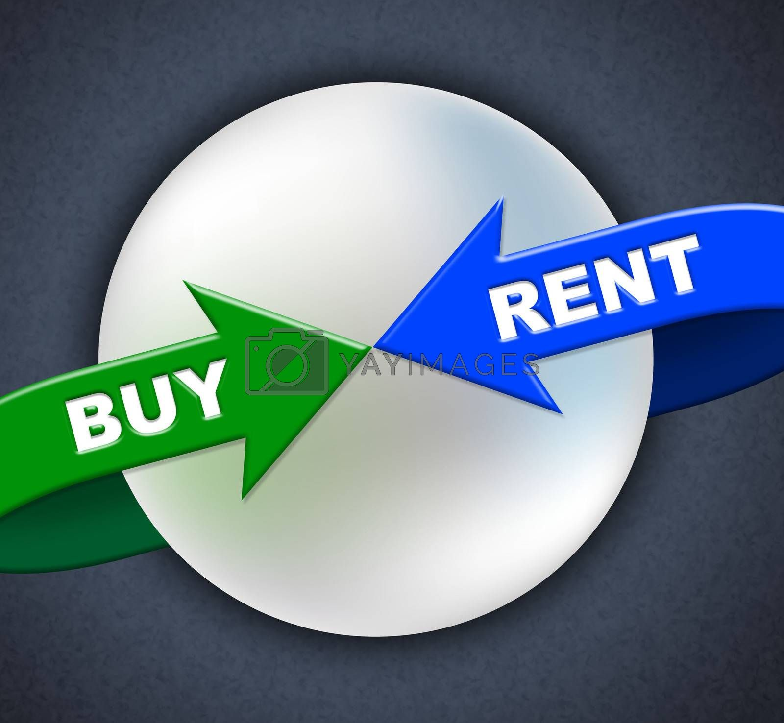 Buy Rent Arrows Indicates Lease Buyer And Purchase by stuartmiles