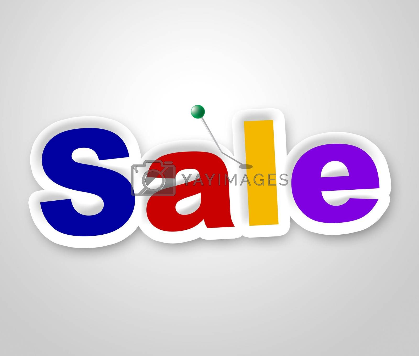 Sale Sign Represents Clearance Discounts And Promotion by stuartmiles