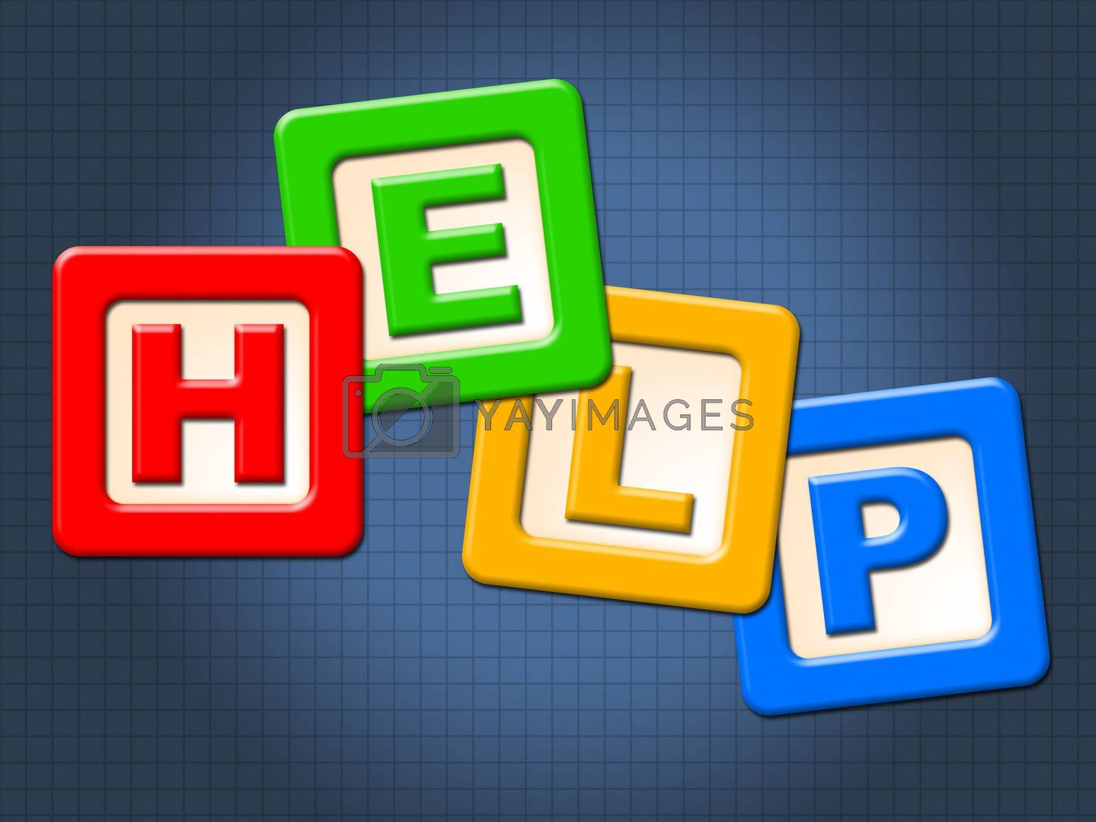 Help Kids Blocks Shows Information Youngsters And Question by stuartmiles