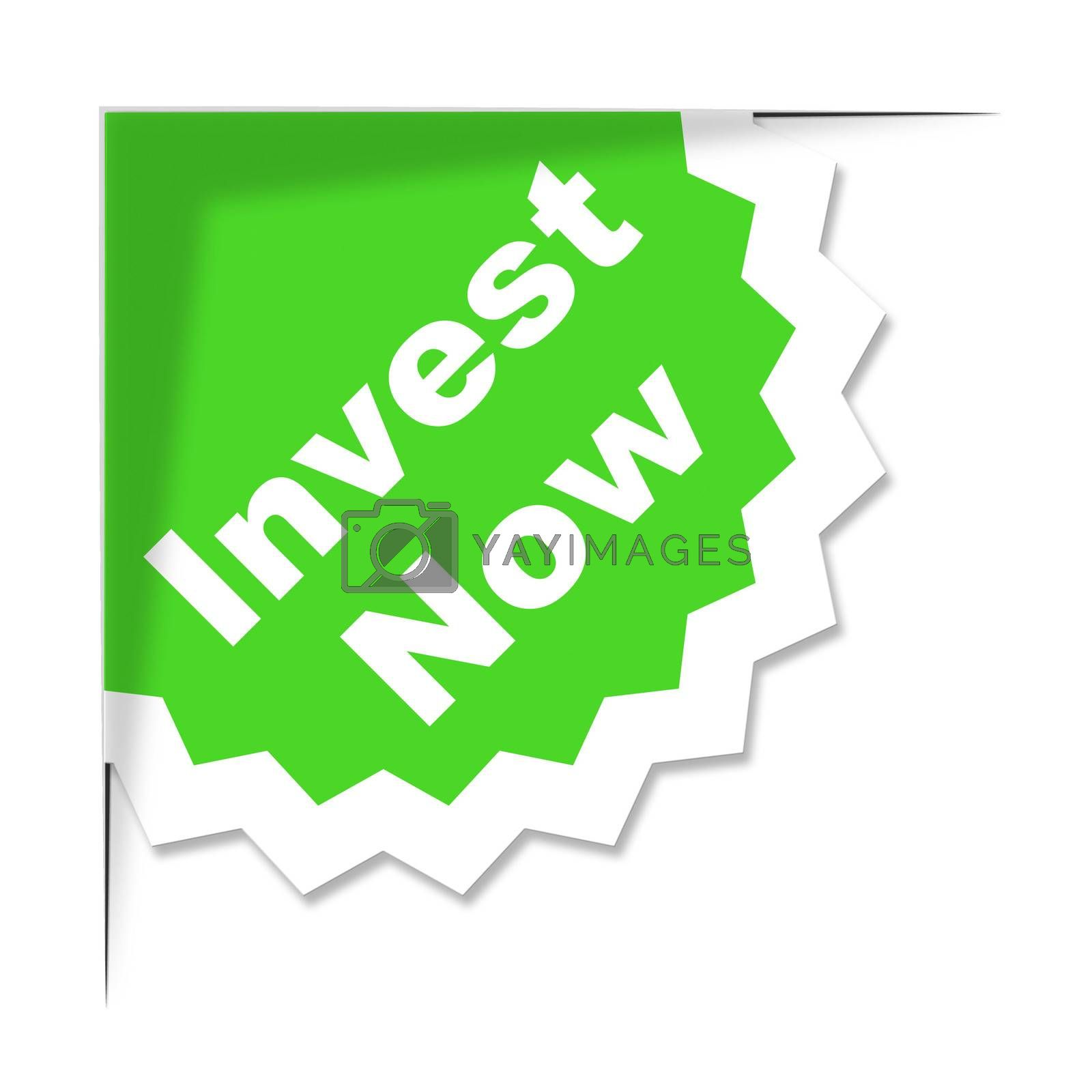 Invest Now Label Means Return On Investment And Growth by stuartmiles