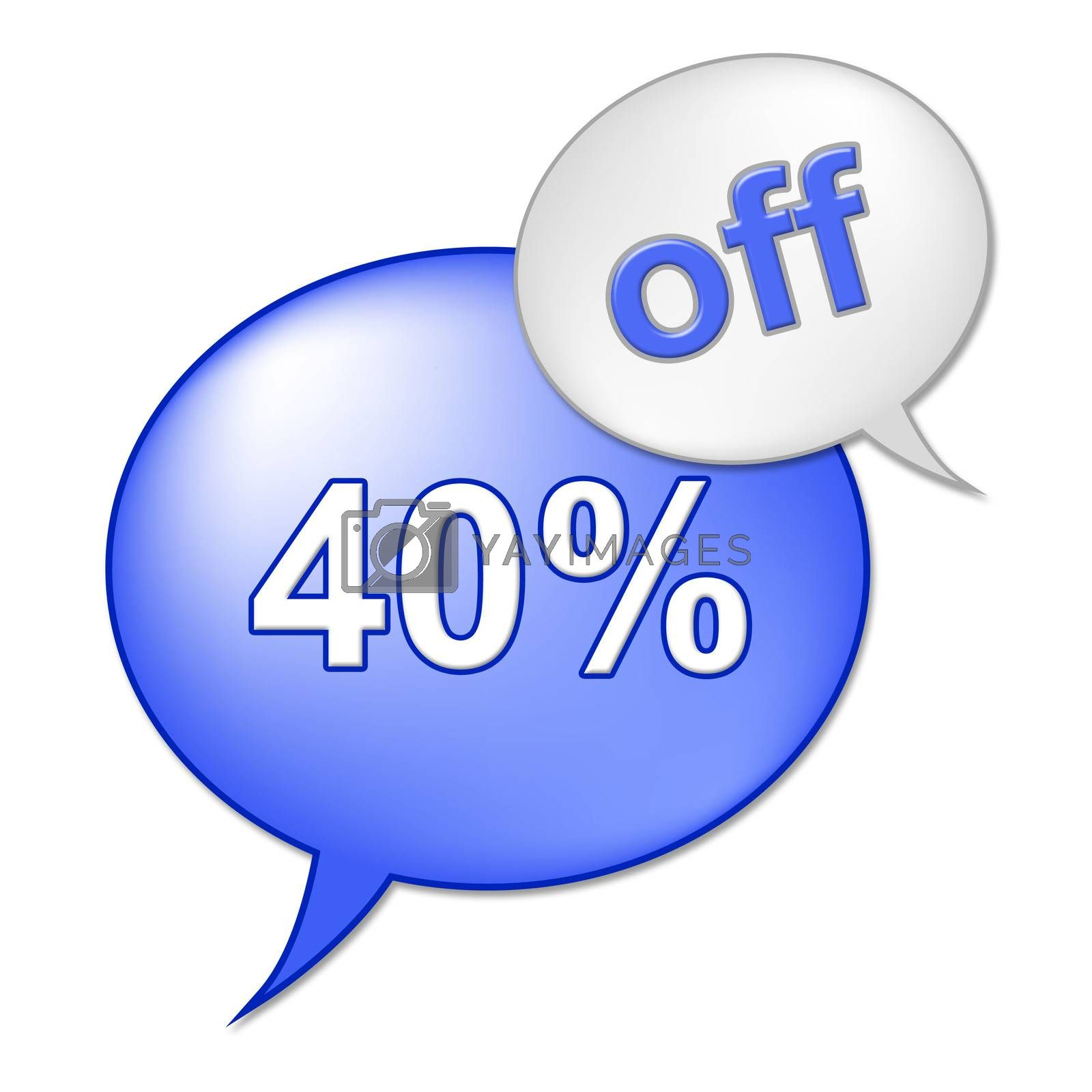 Forty Percent Off Indicates Retail Savings And Cheap by stuartmiles