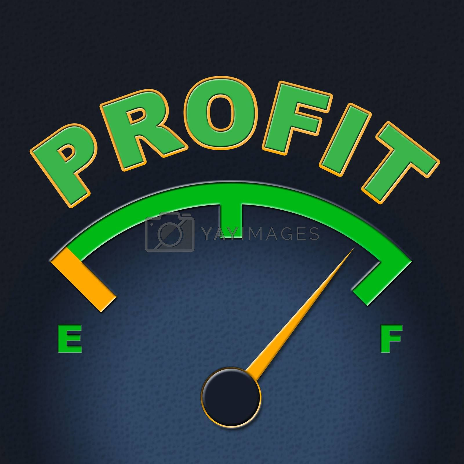 Profit Gauge Indicates Measure Indicator And Earn by stuartmiles