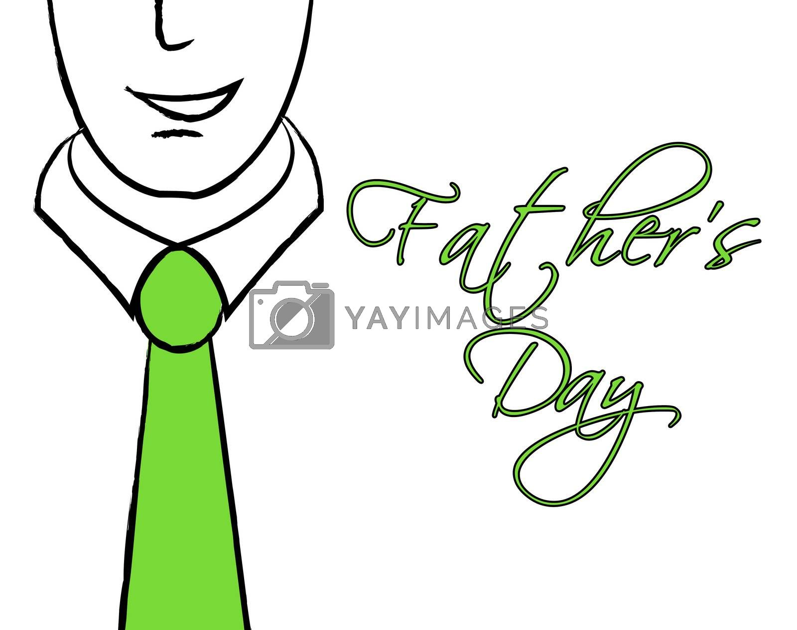 Fathers Day Tie Means Greeting Cheerful And Parenting by stuartmiles