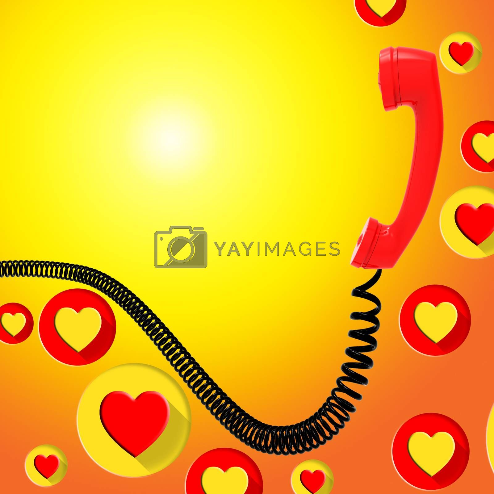 Romantic Call Represents Find Love And Blank by stuartmiles
