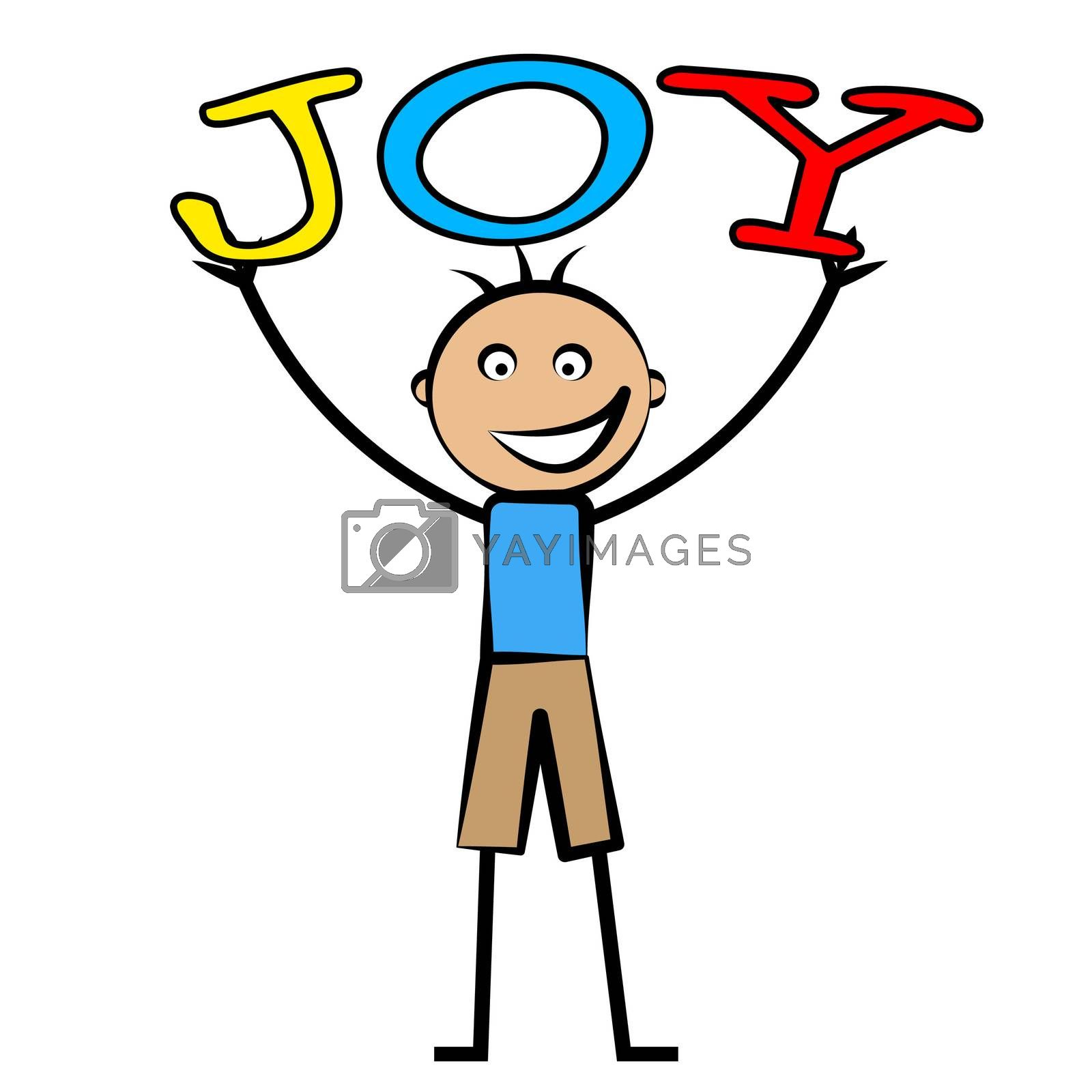 Joy Kids Means Positive Cheerful And Child by stuartmiles