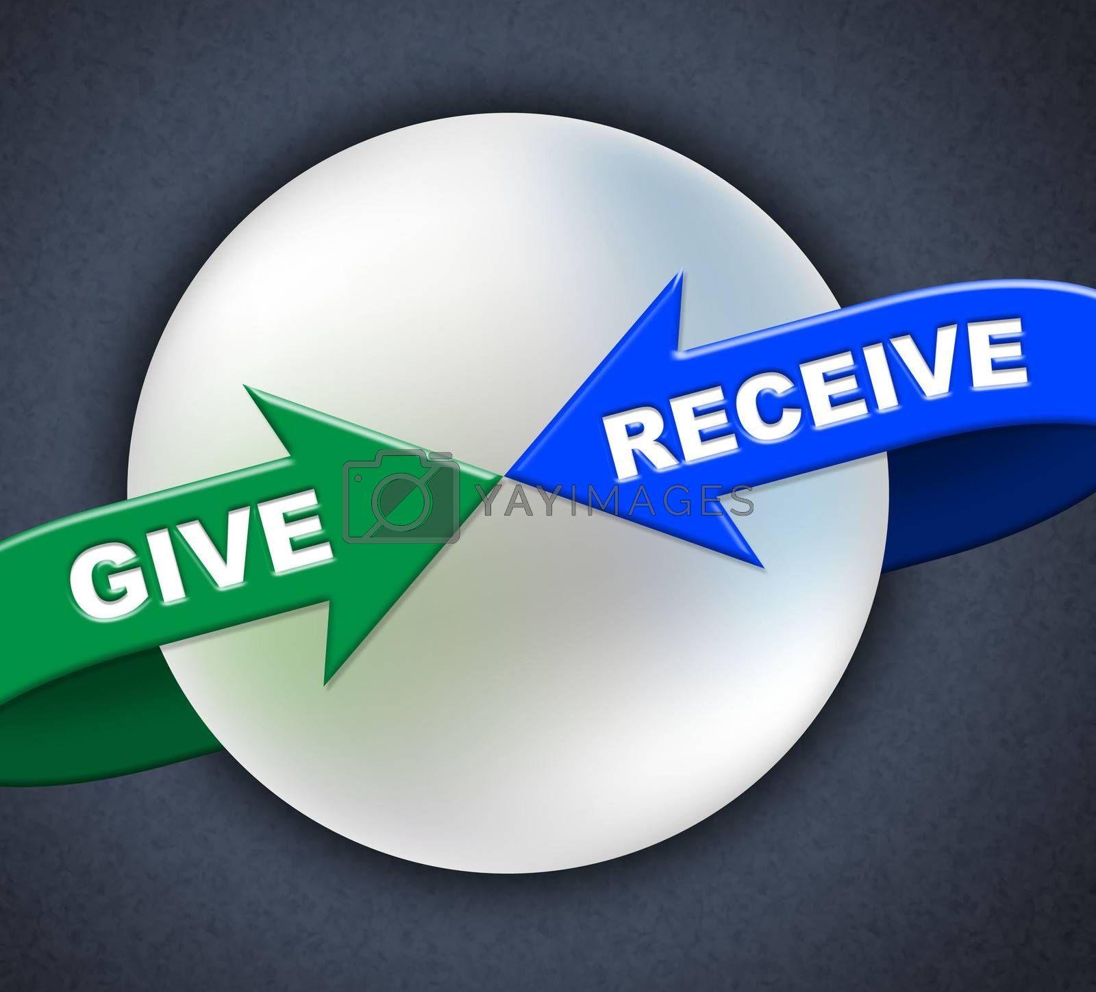 Give Receive Arrows Represents Present Donate And Take by stuartmiles