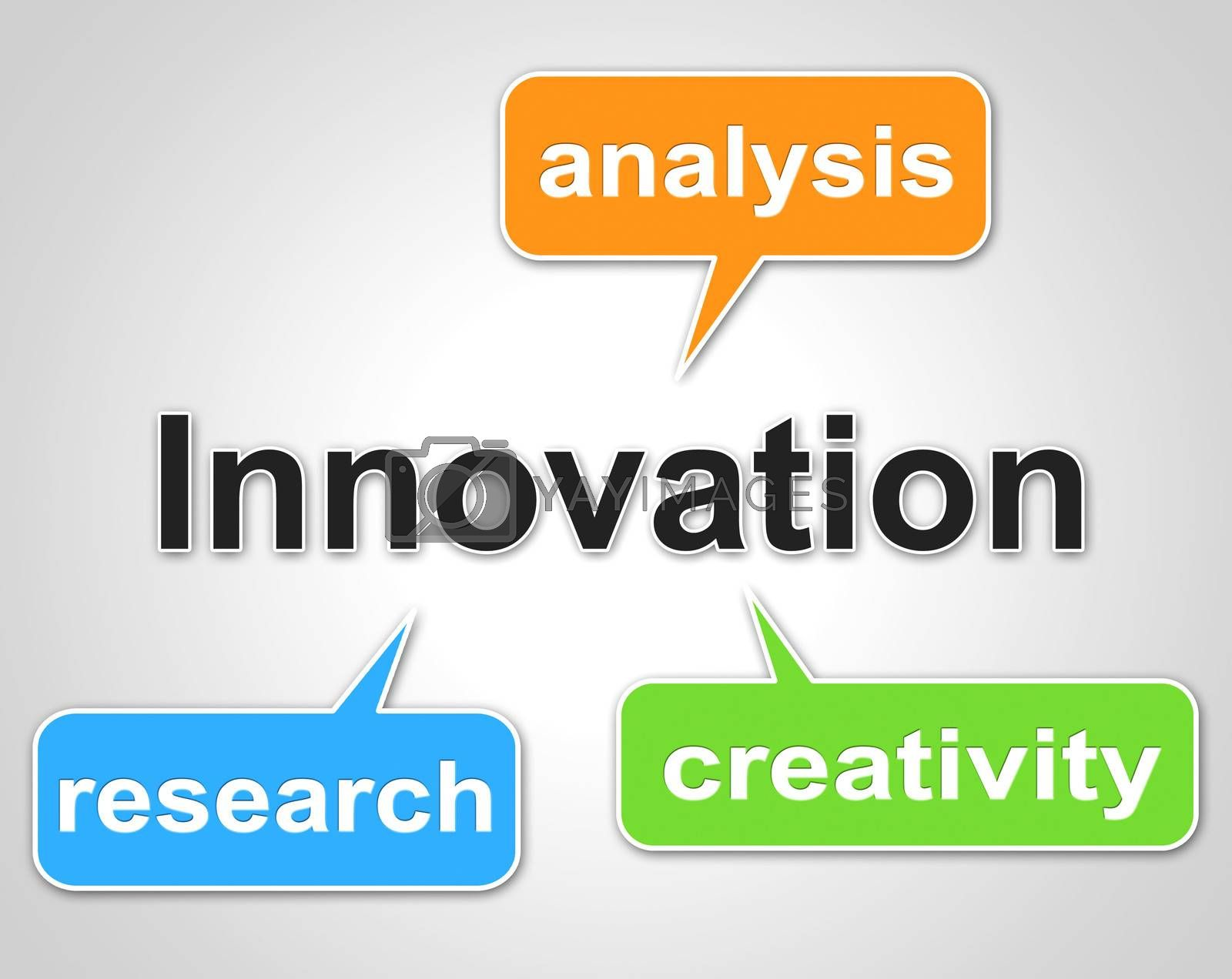 Innovation Words Shows Investigate Researcher And Investigation by stuartmiles