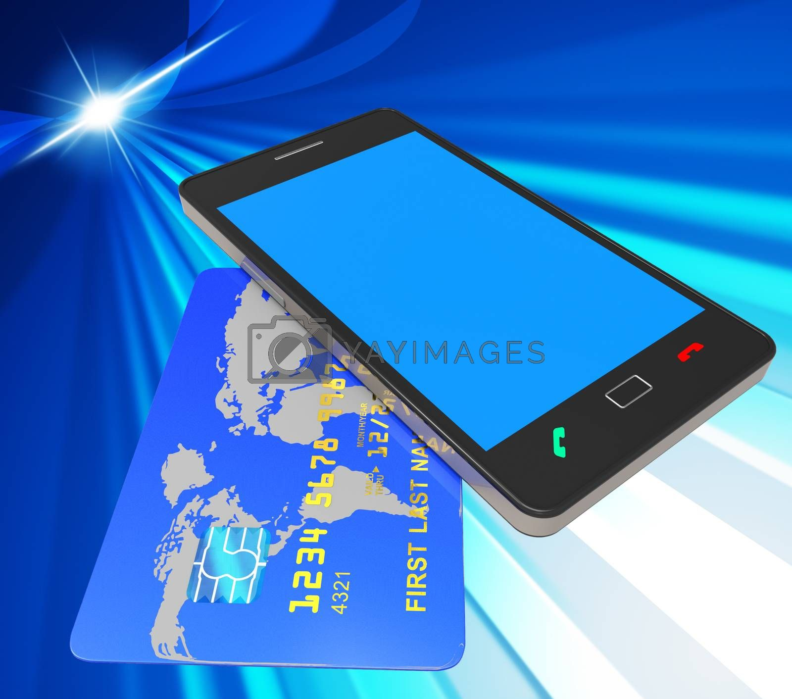Credit Card Online Represents Web Site And Bankcard by stuartmiles