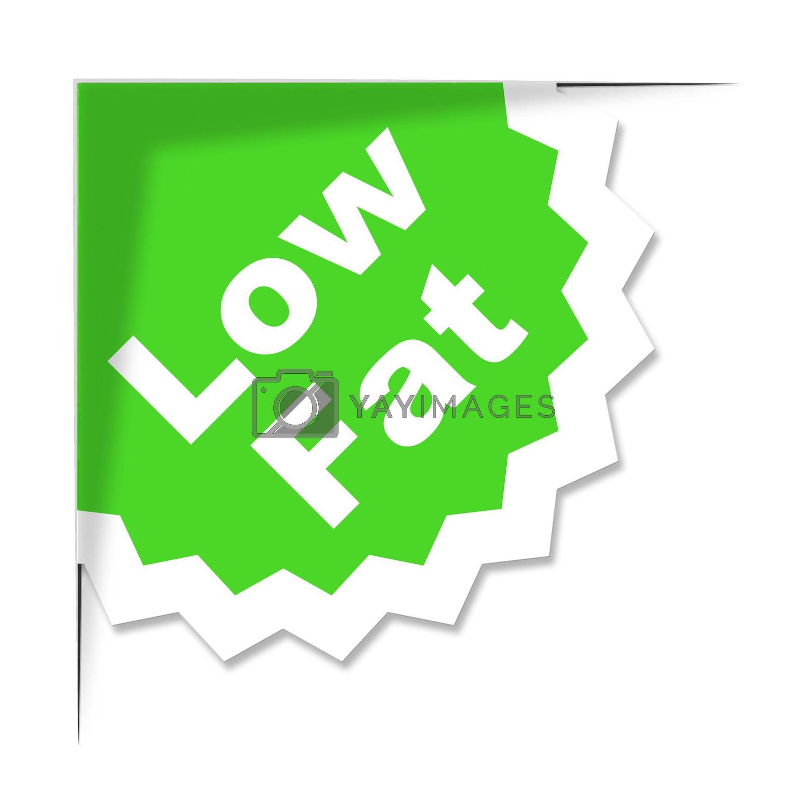 Low Fat Label Represents Weight Loss And Diets by stuartmiles