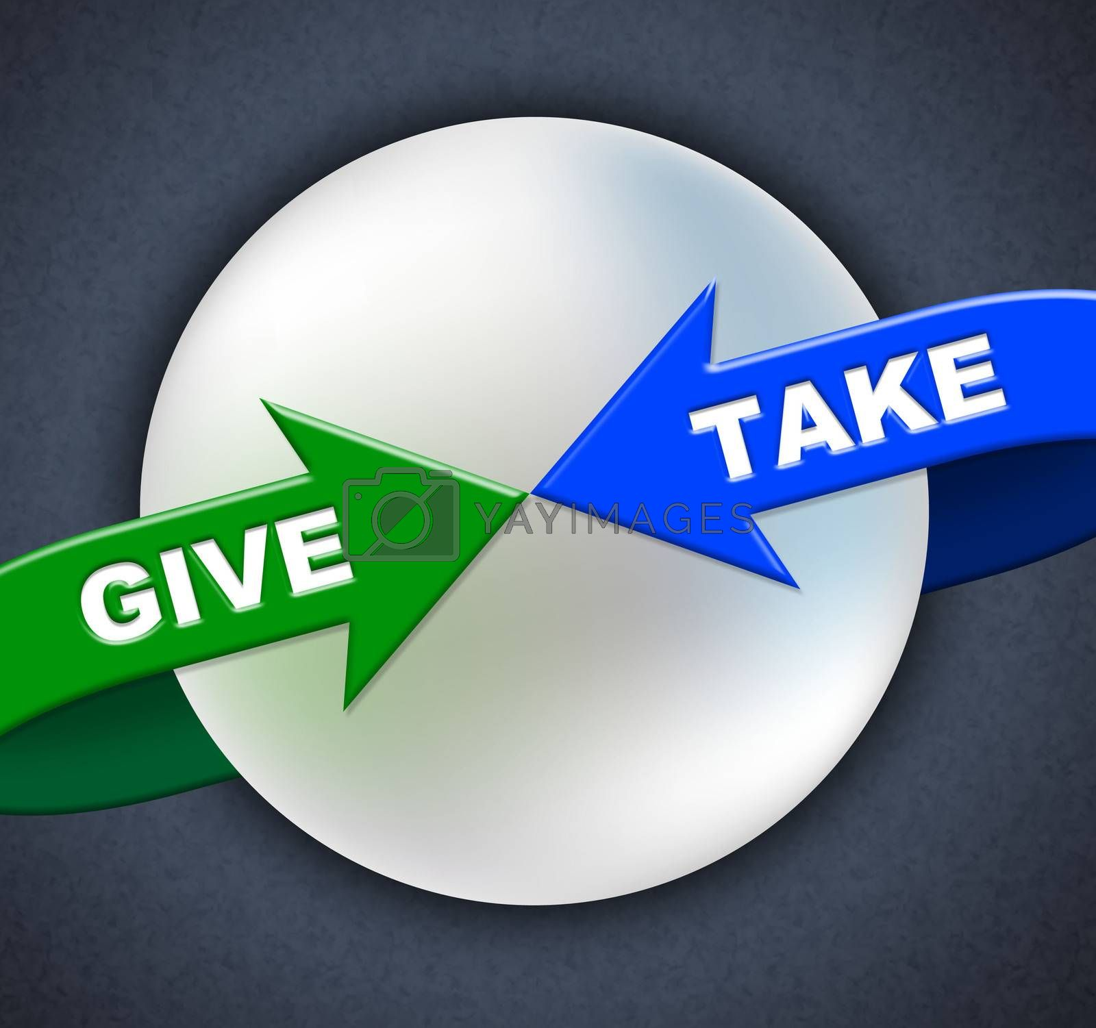 Give Take Arrows Shows Donated Proffer And Taking by stuartmiles