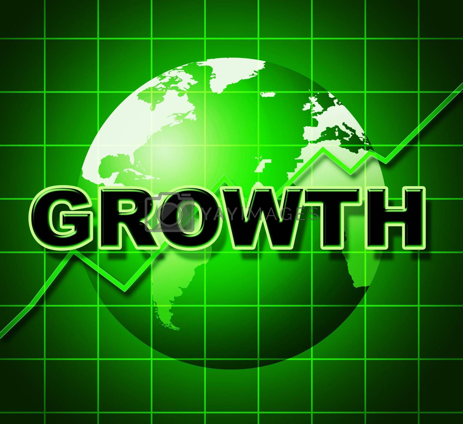 Growth Graph Means Financial Expansion And Forecast by stuartmiles