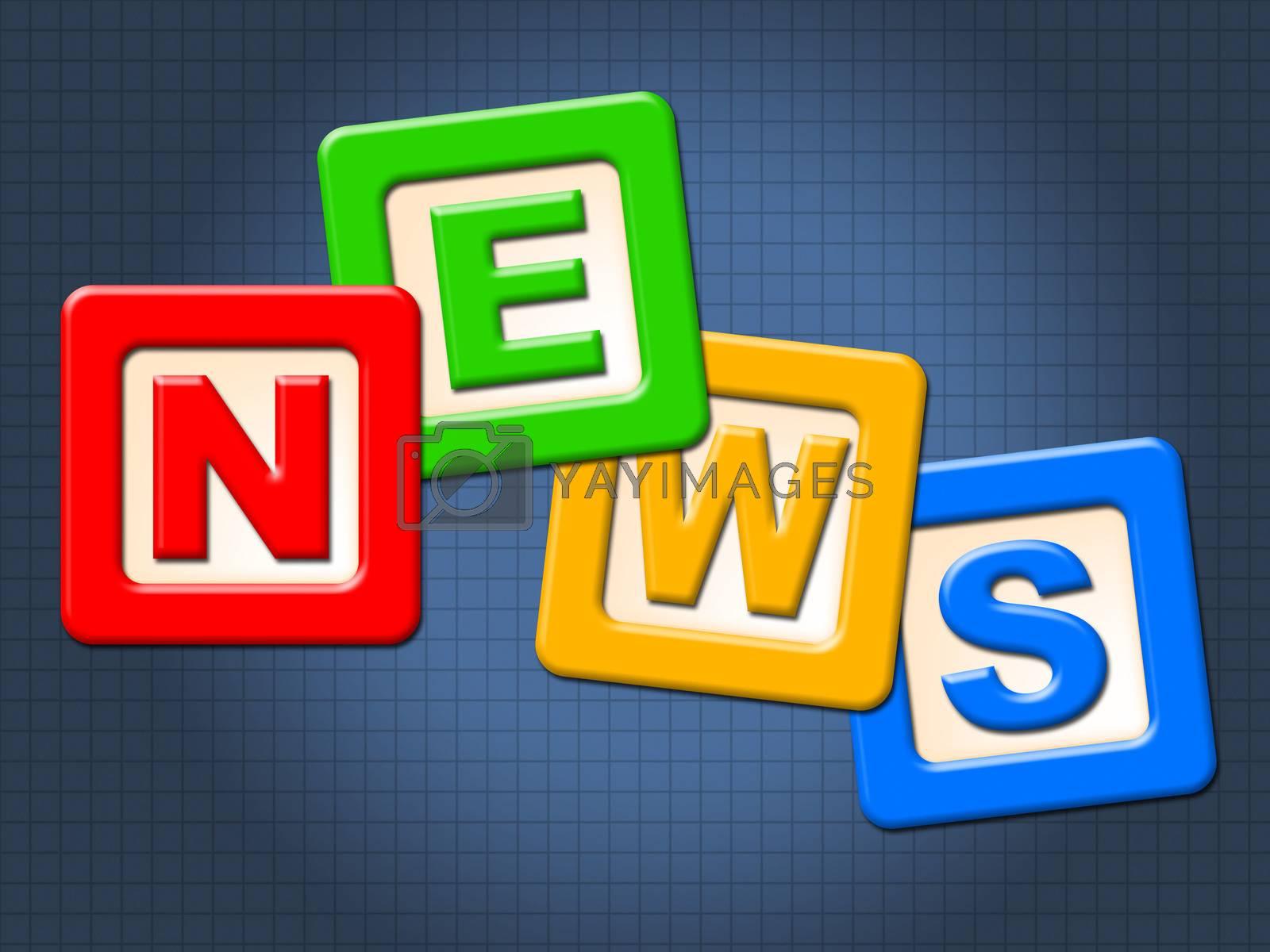 News Kids Blocks Indicates Social Media And Article by stuartmiles