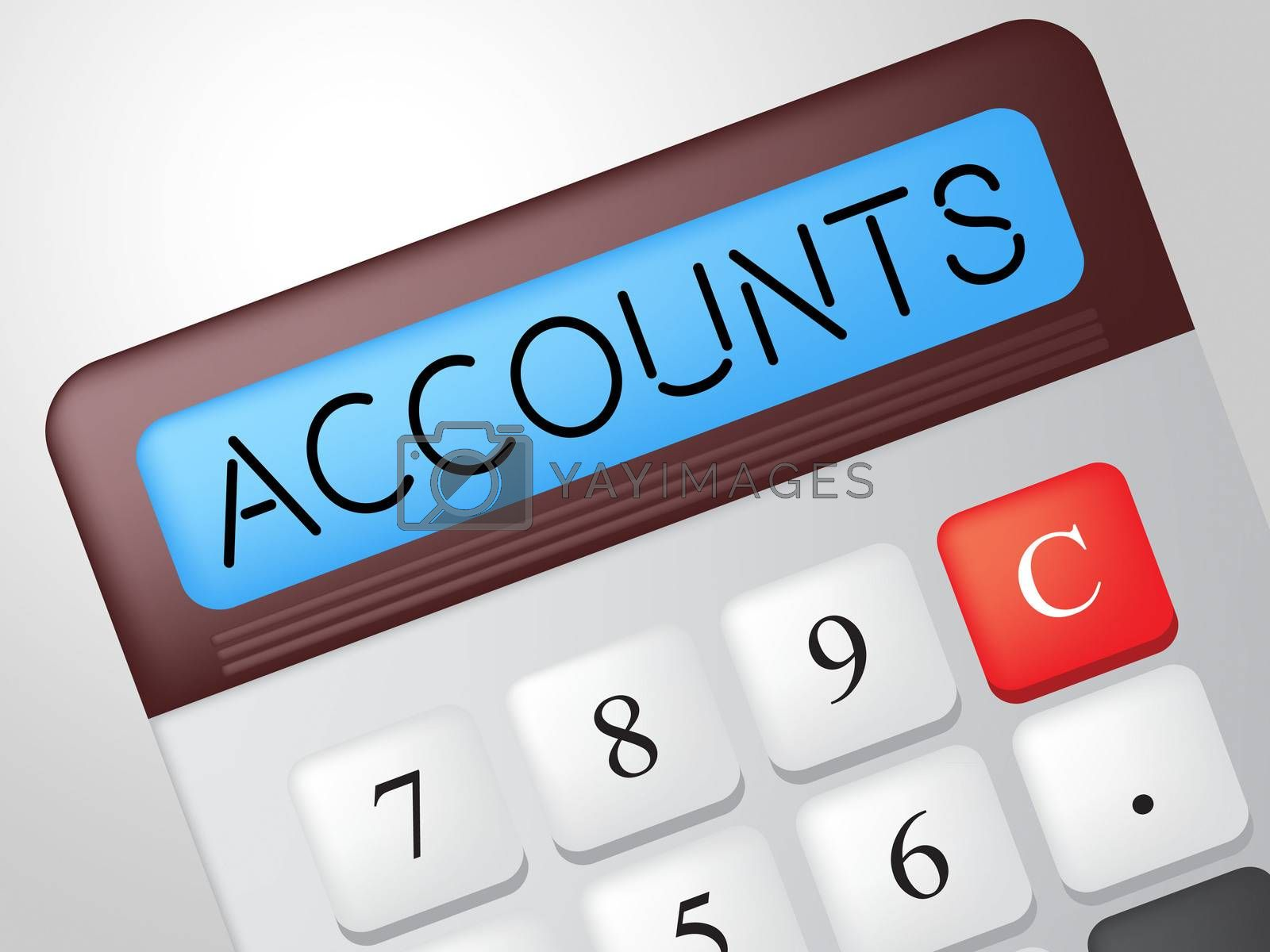 Accounts Calculator Indicates Balancing The Books And Accounting by stuartmiles