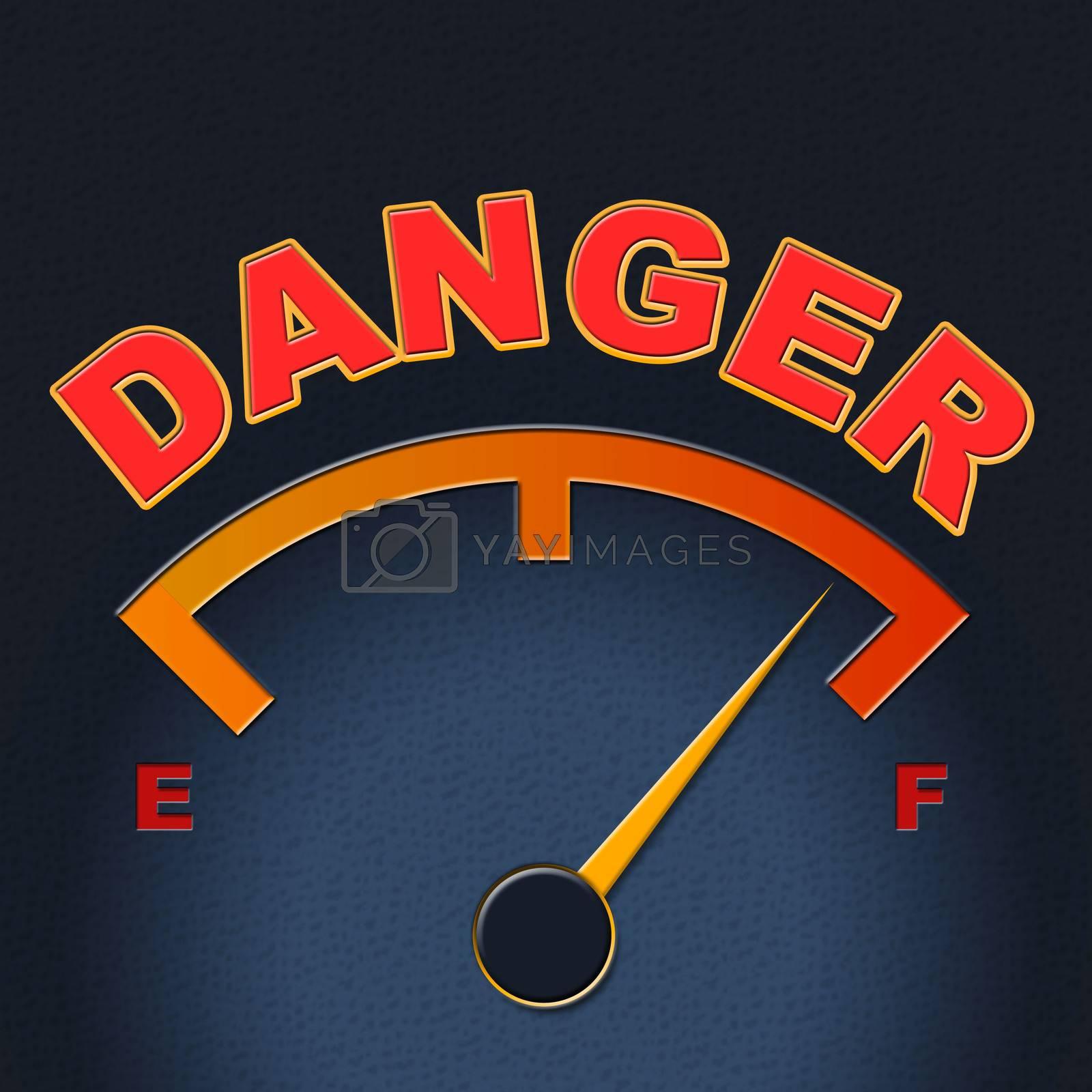 Danger Gauge Indicates Caution Dangerous And Measure by stuartmiles