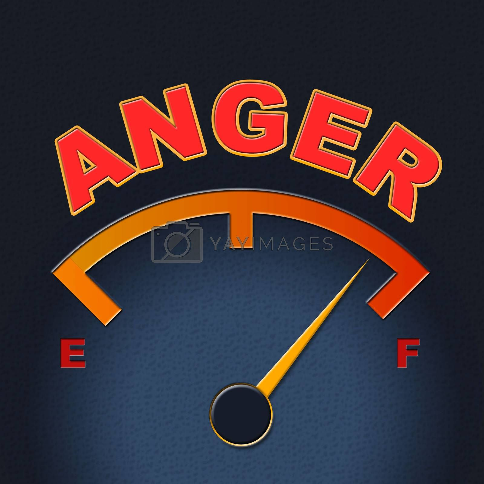 Anger Gauge Means Annoy Annoyed And Rage by stuartmiles