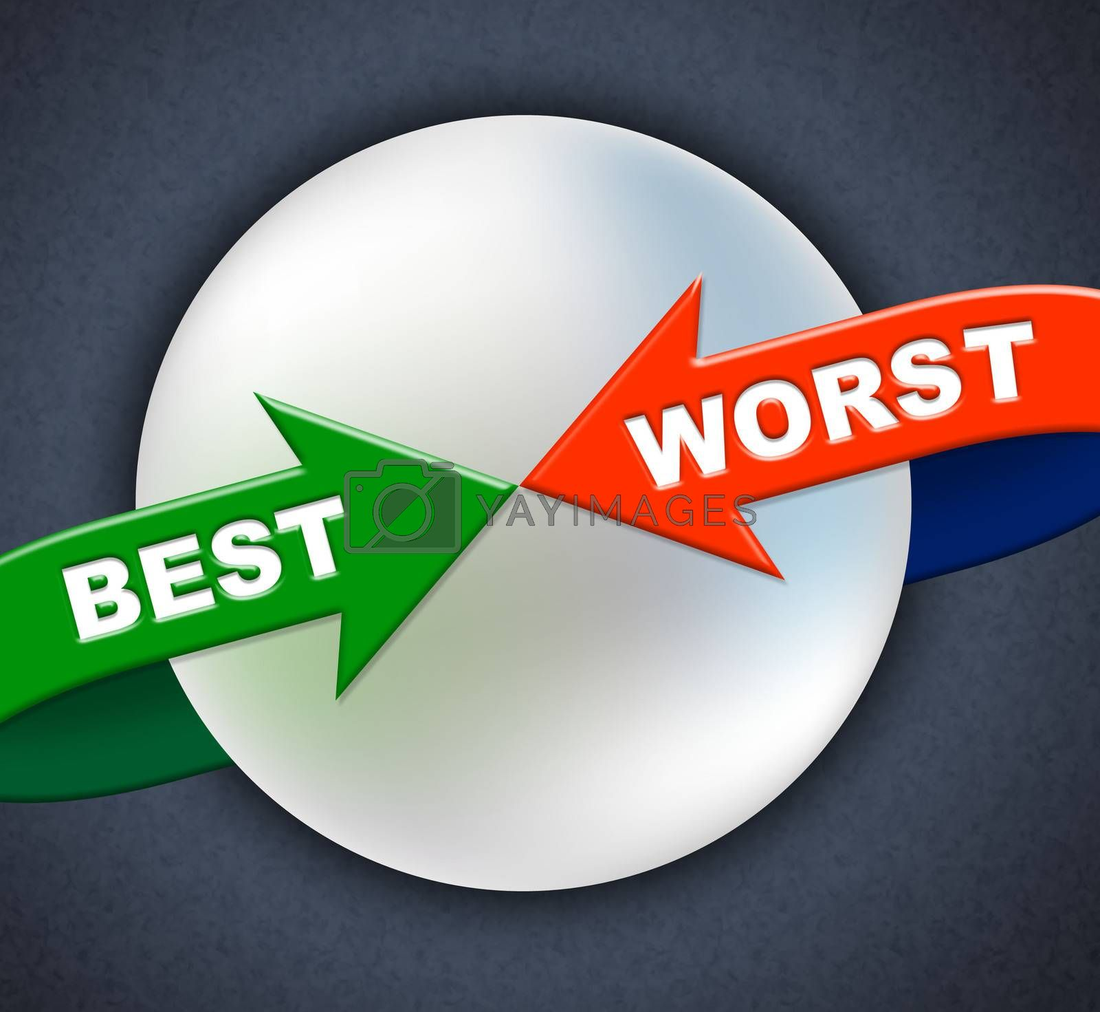 Best Worst Arrows Indicates Number One And Inferior by stuartmiles