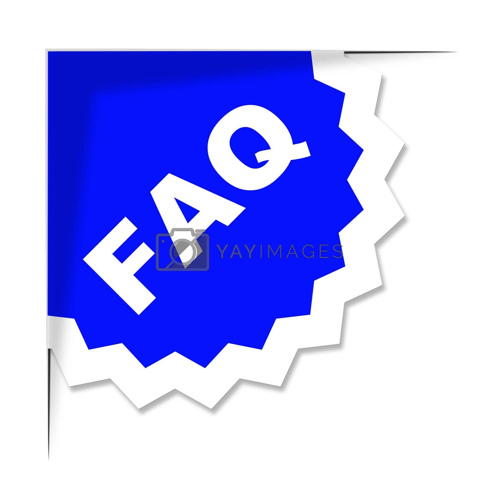 Faq Label Represents Frequently Asked Questions And Advice by stuartmiles