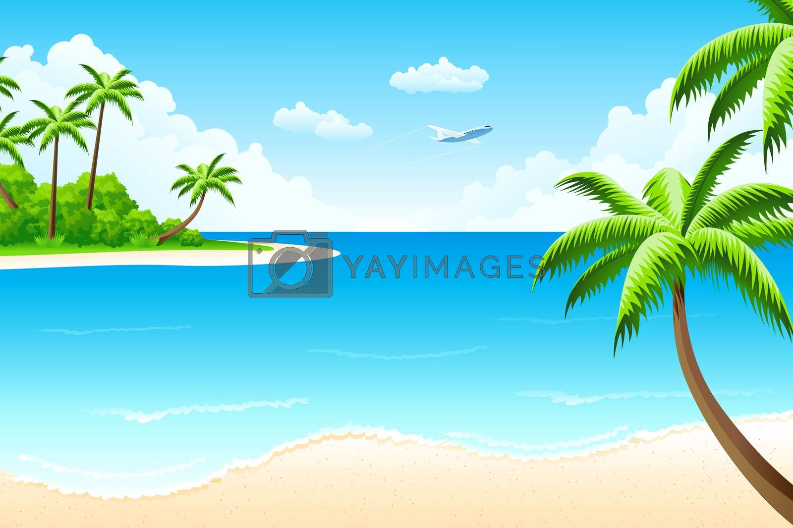 Tropical landscape by WaD