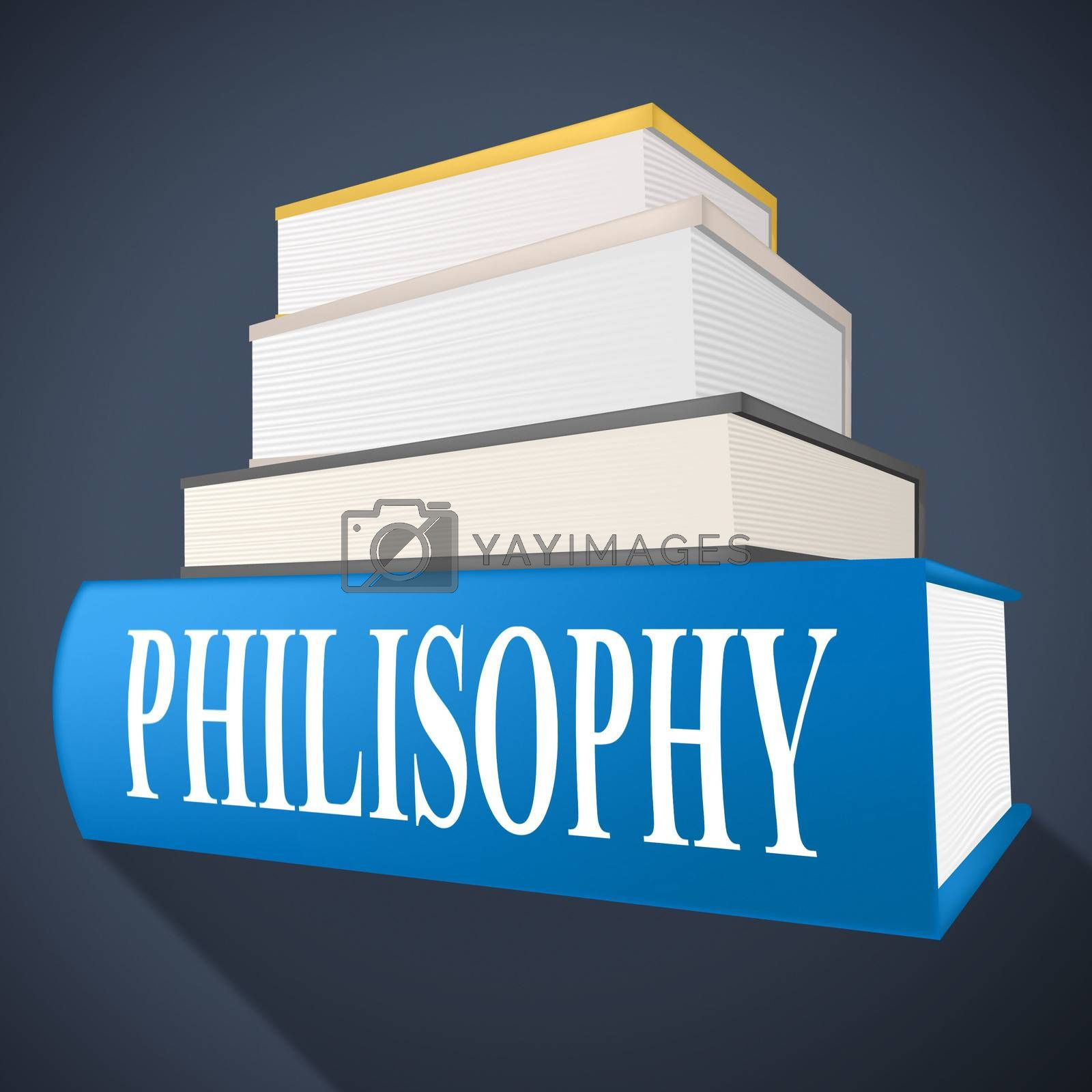 Philosophy Book Shows Non-Fiction Morality And Reasoning by stuartmiles