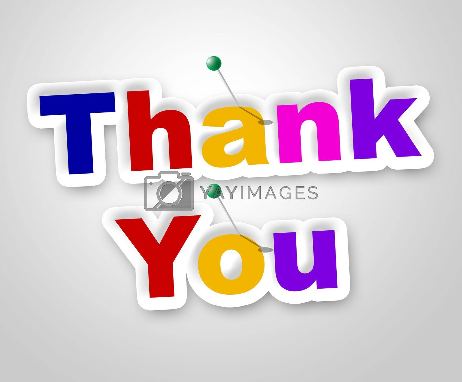 Thank You Sign Indicates Many Thanks And Appreciate by stuartmiles