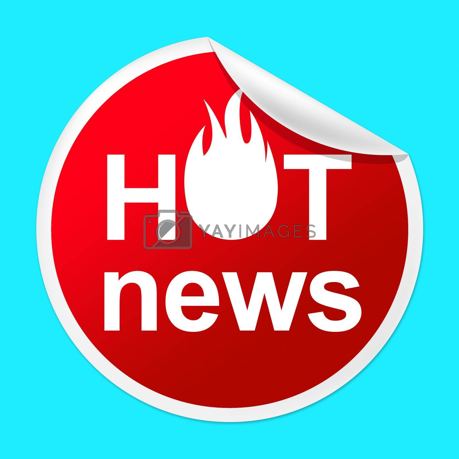 Hot News Sticker Represents Media Player And Best by stuartmiles