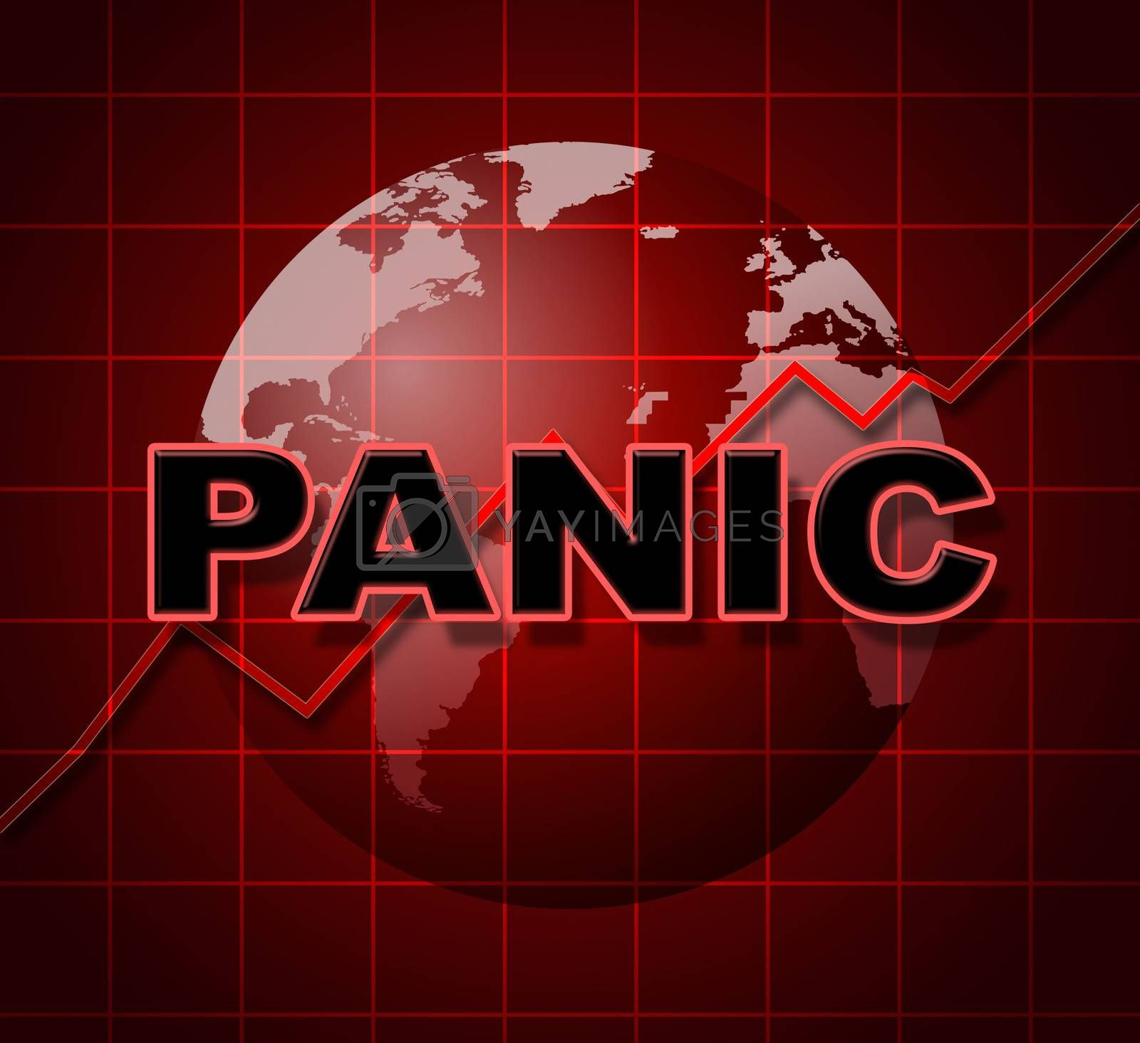 Panic Graph Represents Infograph Anxiety And Diagram by stuartmiles