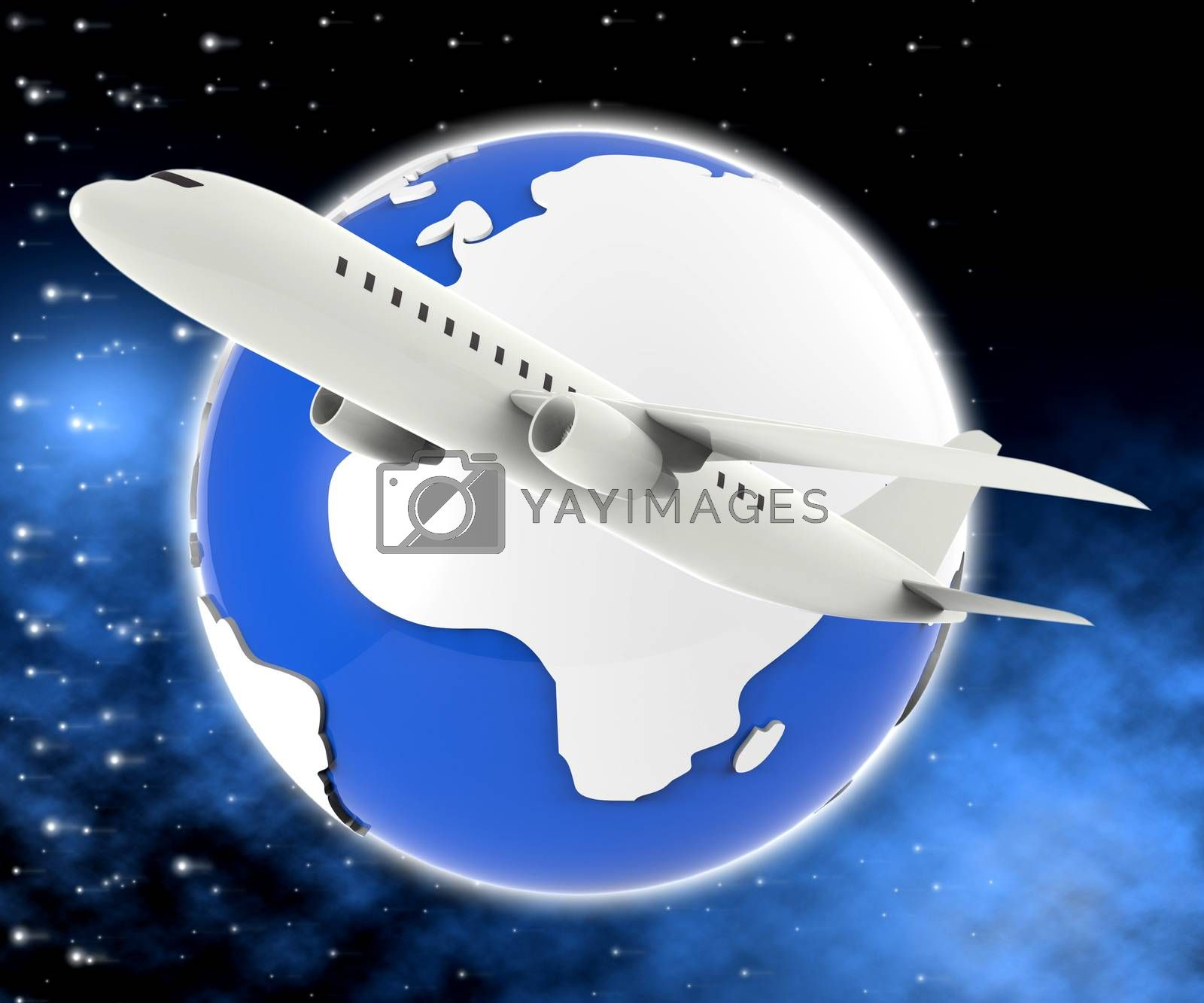 World Plane Means Travel Guide And Air by stuartmiles