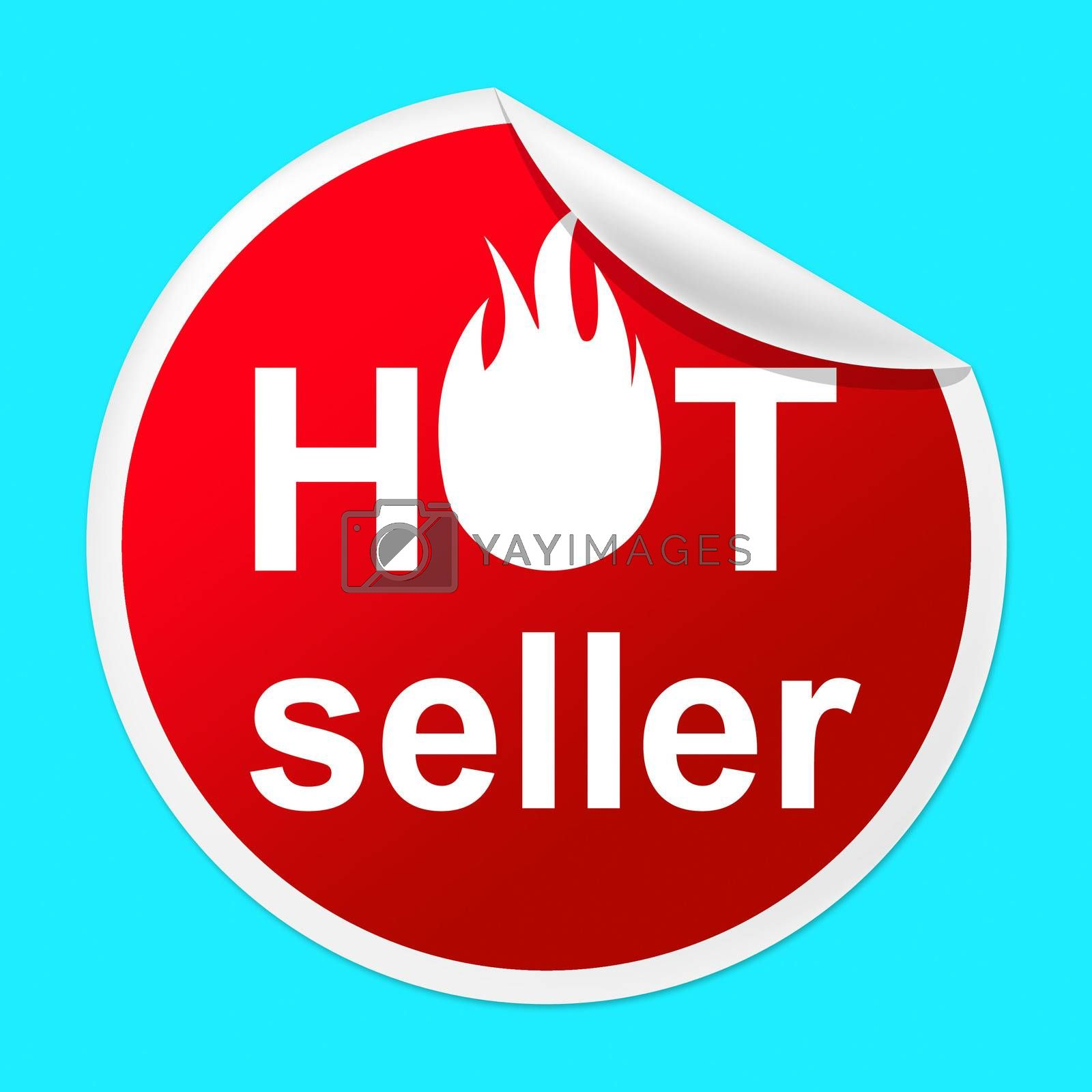 Hot Seller Sticker Indicates Number One And Best by stuartmiles