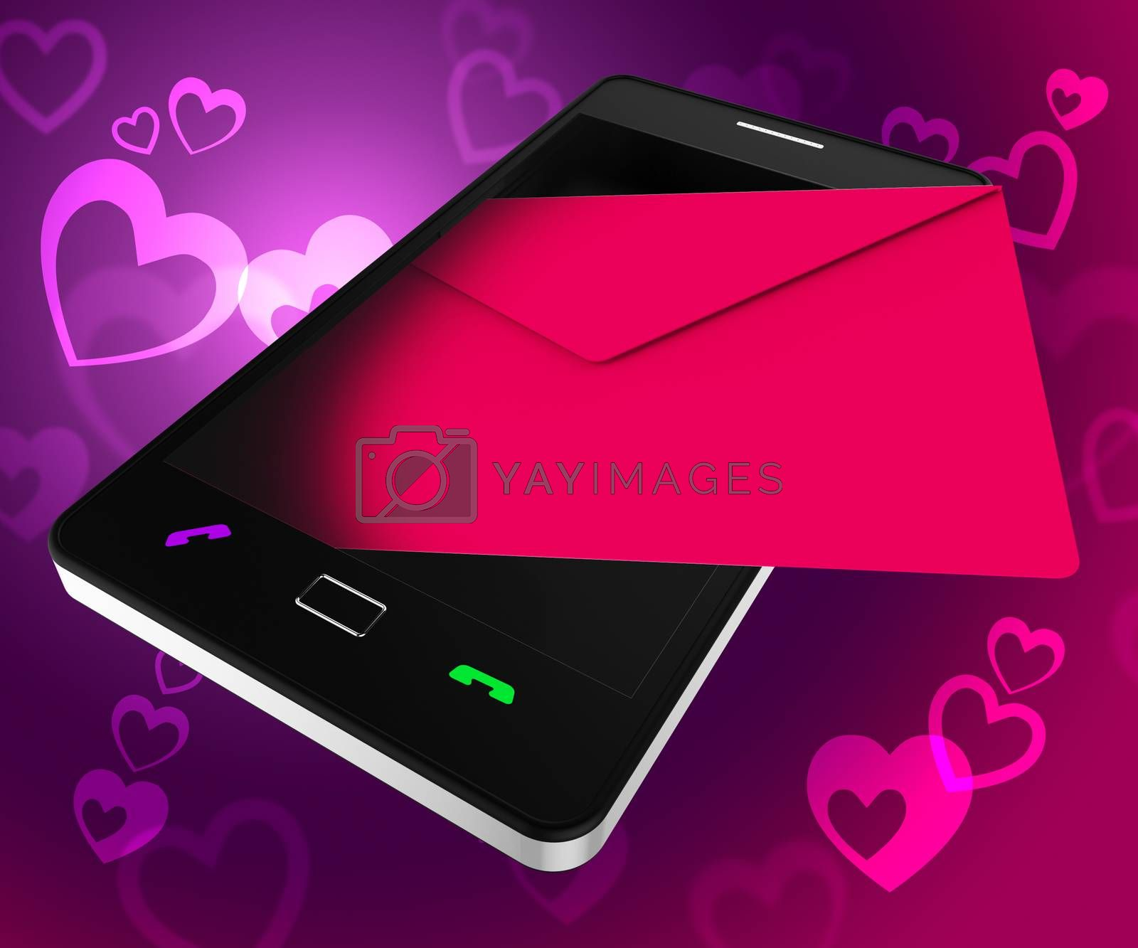 Send Love Phone Shows Devotion Cellphone And Smartphone by stuartmiles
