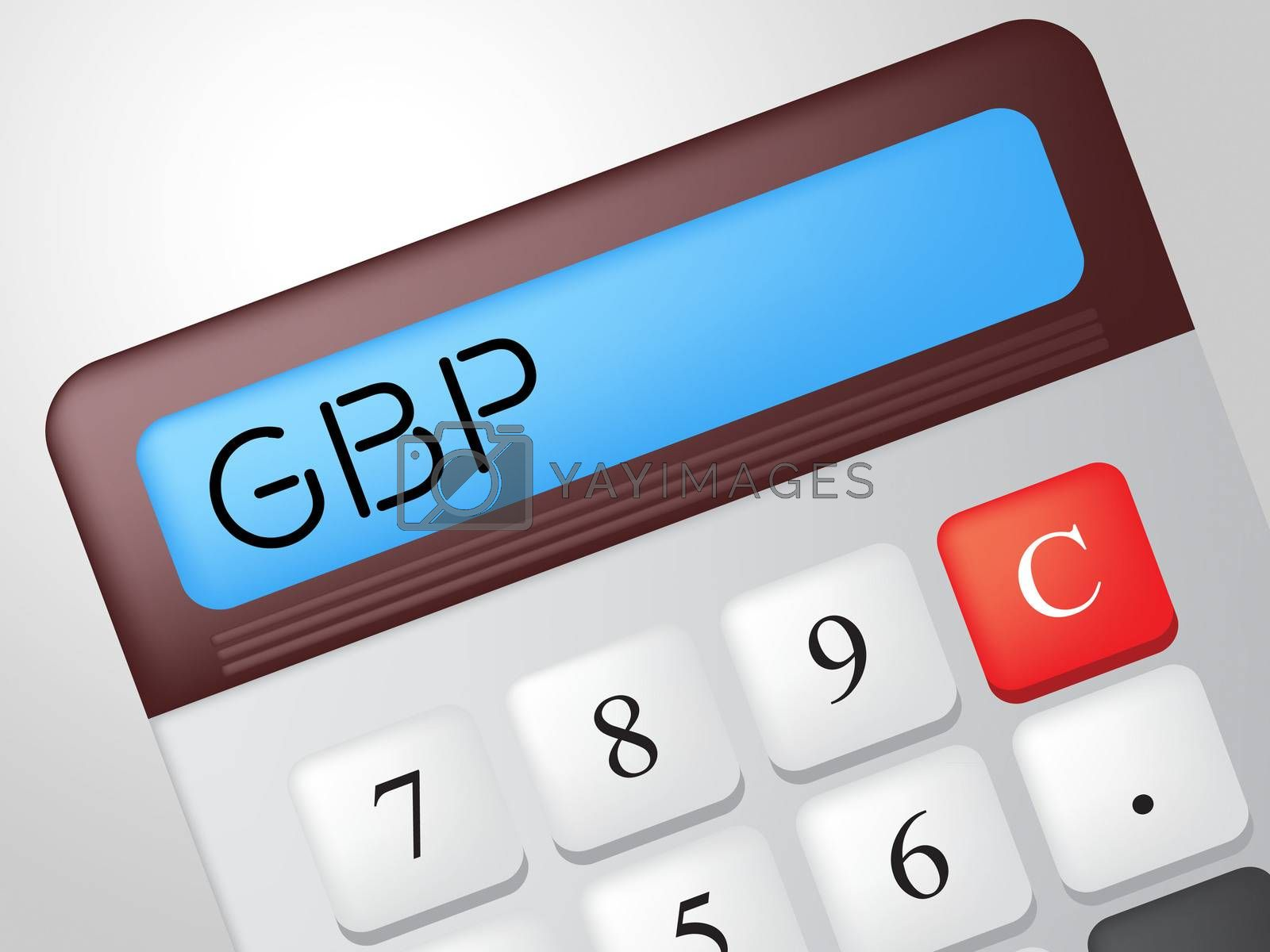 Gbp Calculator Shows British Pound And Calculation by stuartmiles