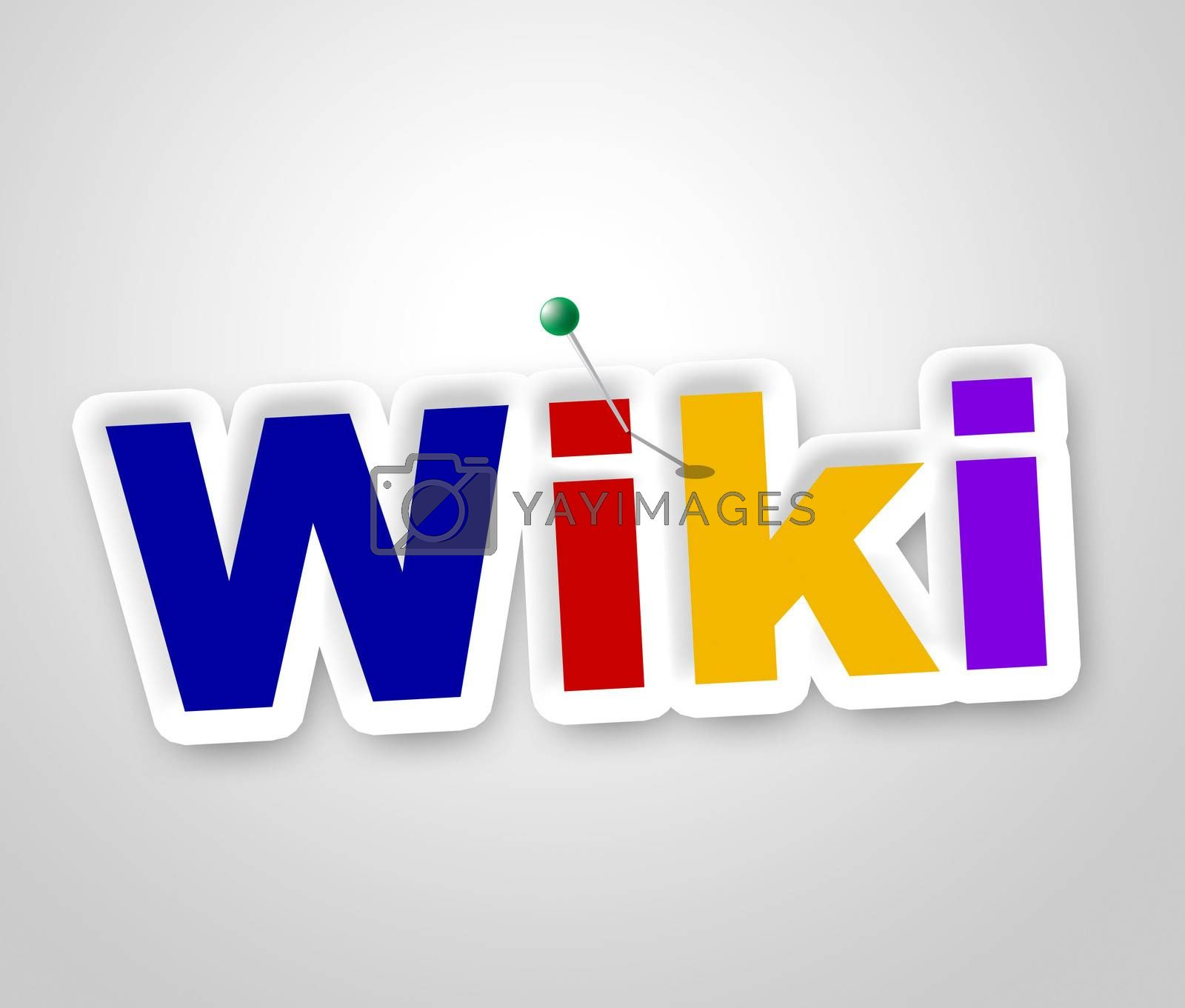 Wiki Sign Shows World Wide Web And Advisor by stuartmiles