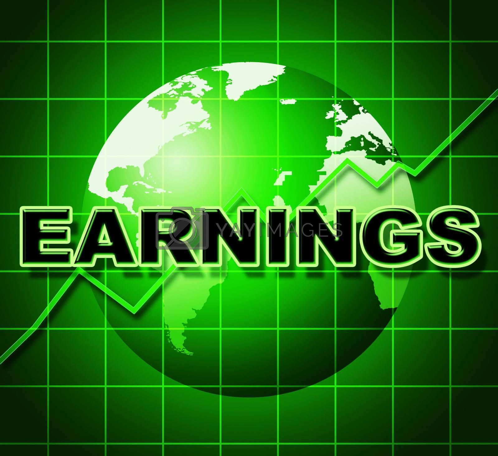 Earnings Graph Indicates Earns Incomes And Infochart by stuartmiles